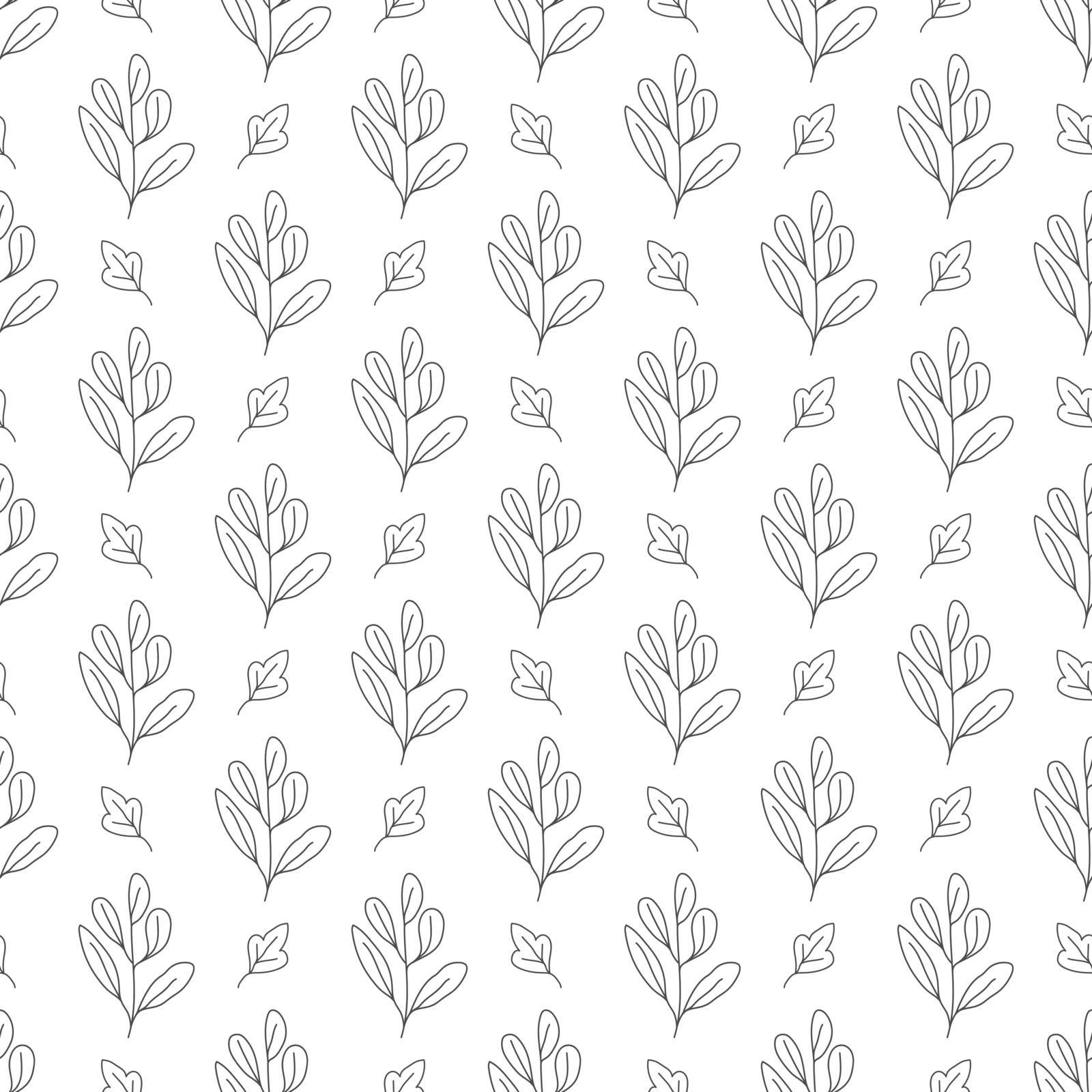 Seamless floral pattern for texture, textiles and simple backgrounds. Vector illustration by Grommik