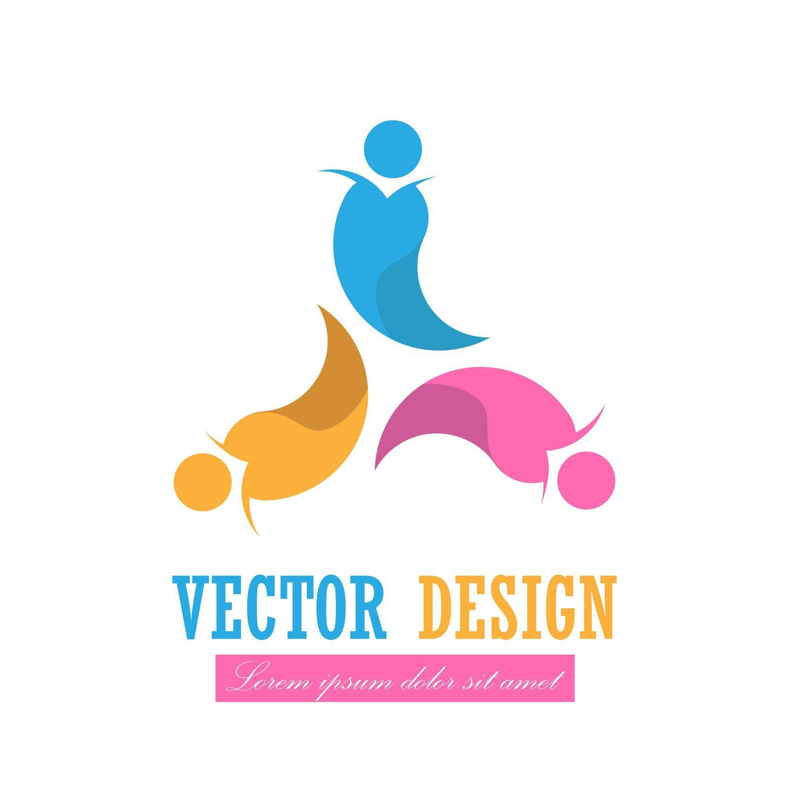 company's logo. Vector illustration for a logo, logo, brand or social project by Grommik
