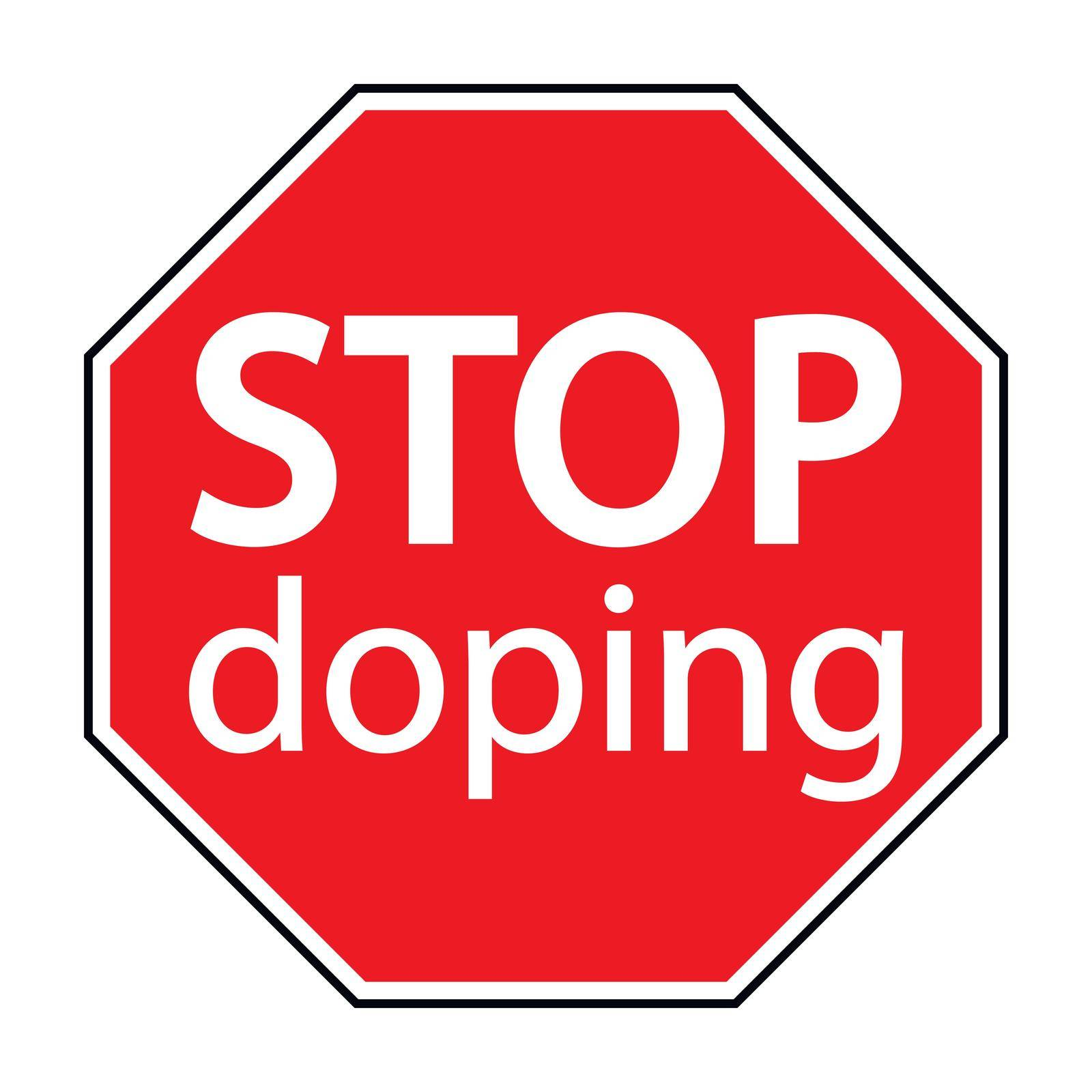 red octagonal sign stop doping by koksikoks