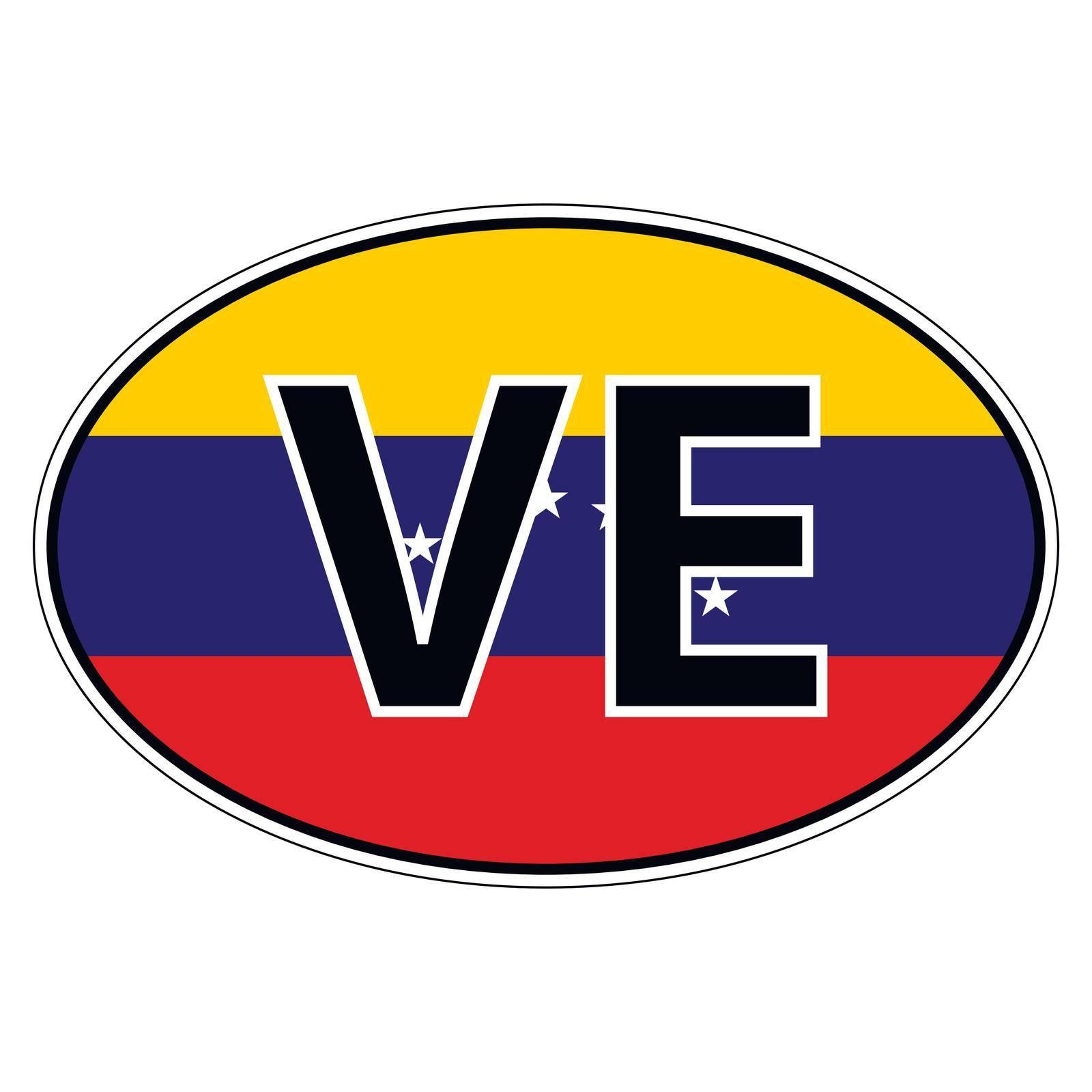 Sticker on car, flag Bolivarian Republic Venezuela by koksikoks