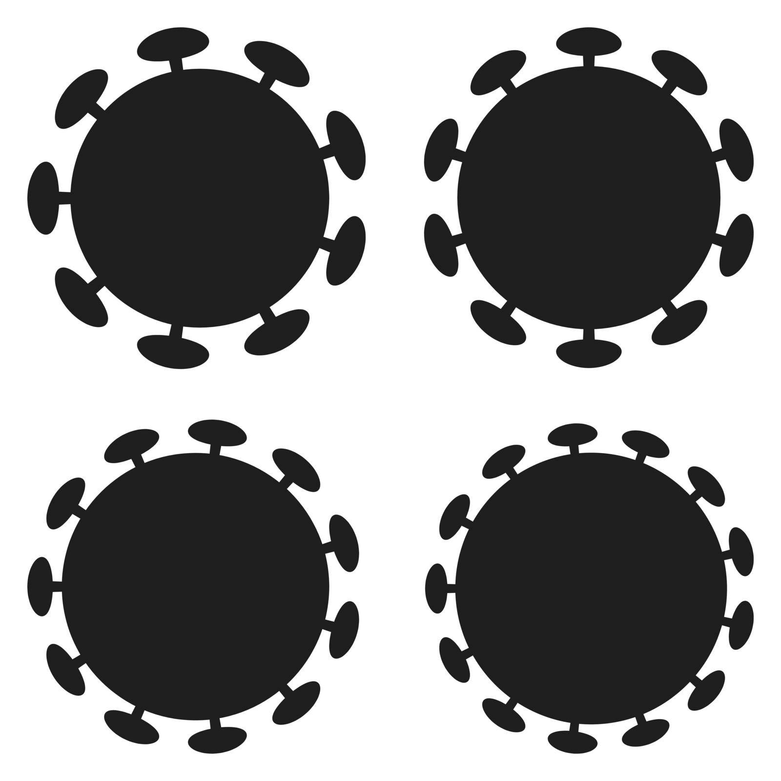 Set icons bacterium the virus is a coronavirus, the vector form of bacteria is a coronavirus pandemic, to protect from infection by koksikoks