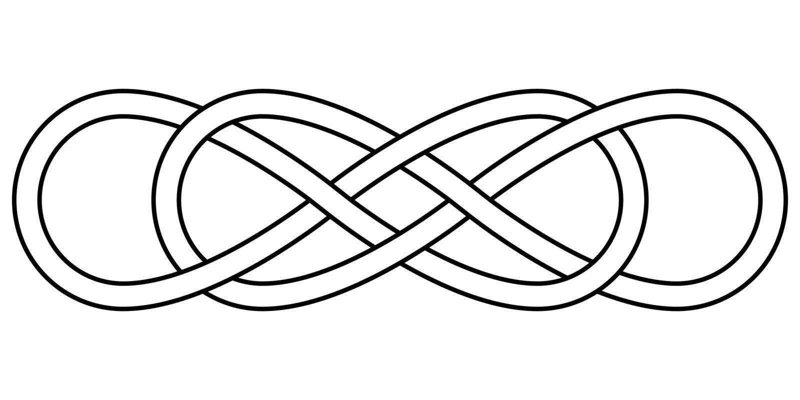 Double knot infinity sign vector double infinity logo tattoo by koksikoks