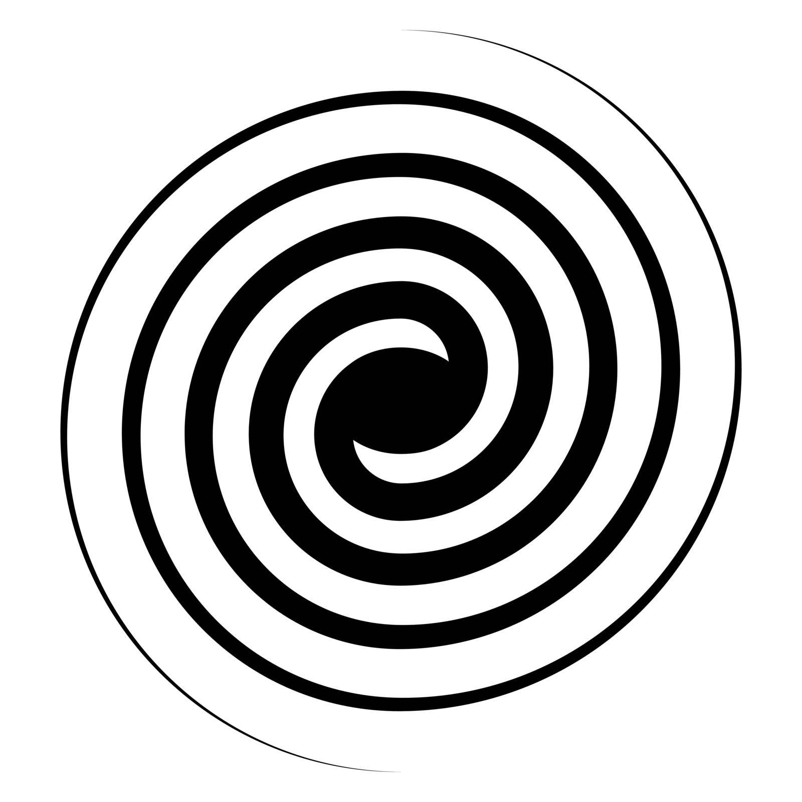 Spiral swirl icon, swirl sign vector double spiral galaxy evolution symbol by koksikoks