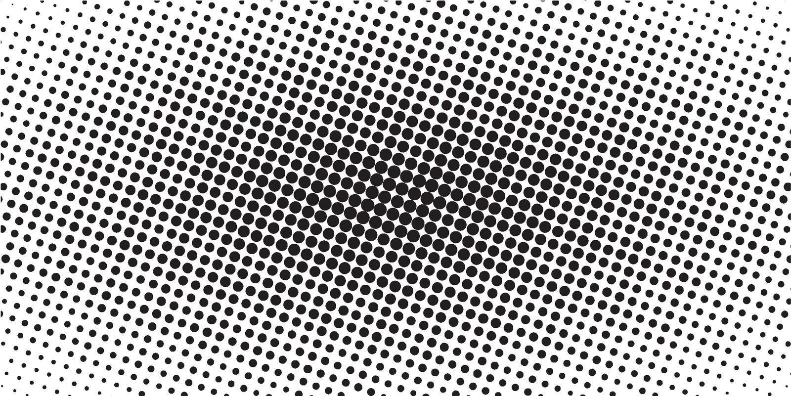 horizontal halftone banner, vector comic manga dots. pop art template by koksikoks