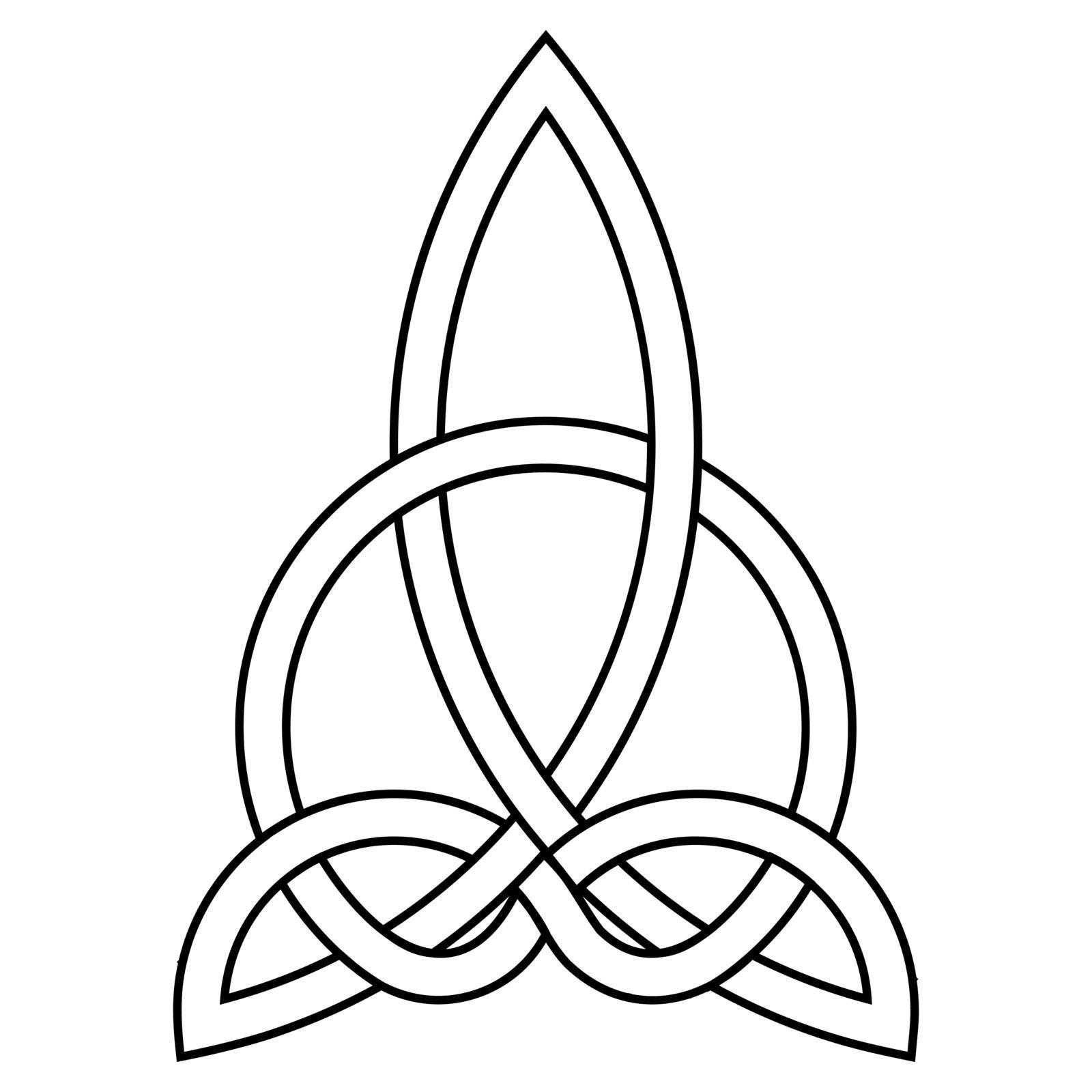 Celtic knot of harmony carving triquetra  carved knot, irish home scottish heritage celtic goddess by koksikoks