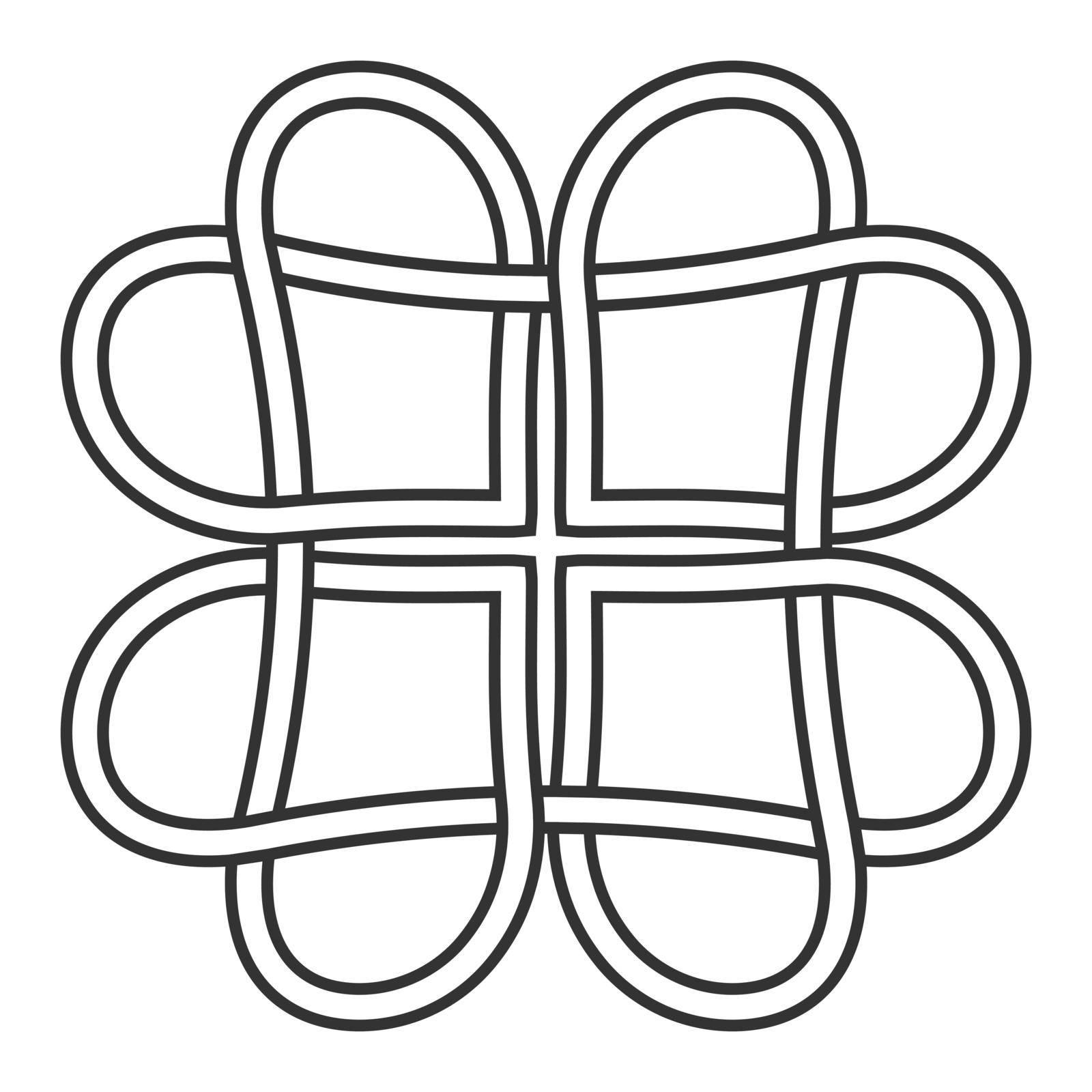 celtic knot of hearts pattern, vector knot hearts symbol of eternal love tattoo by koksikoks
