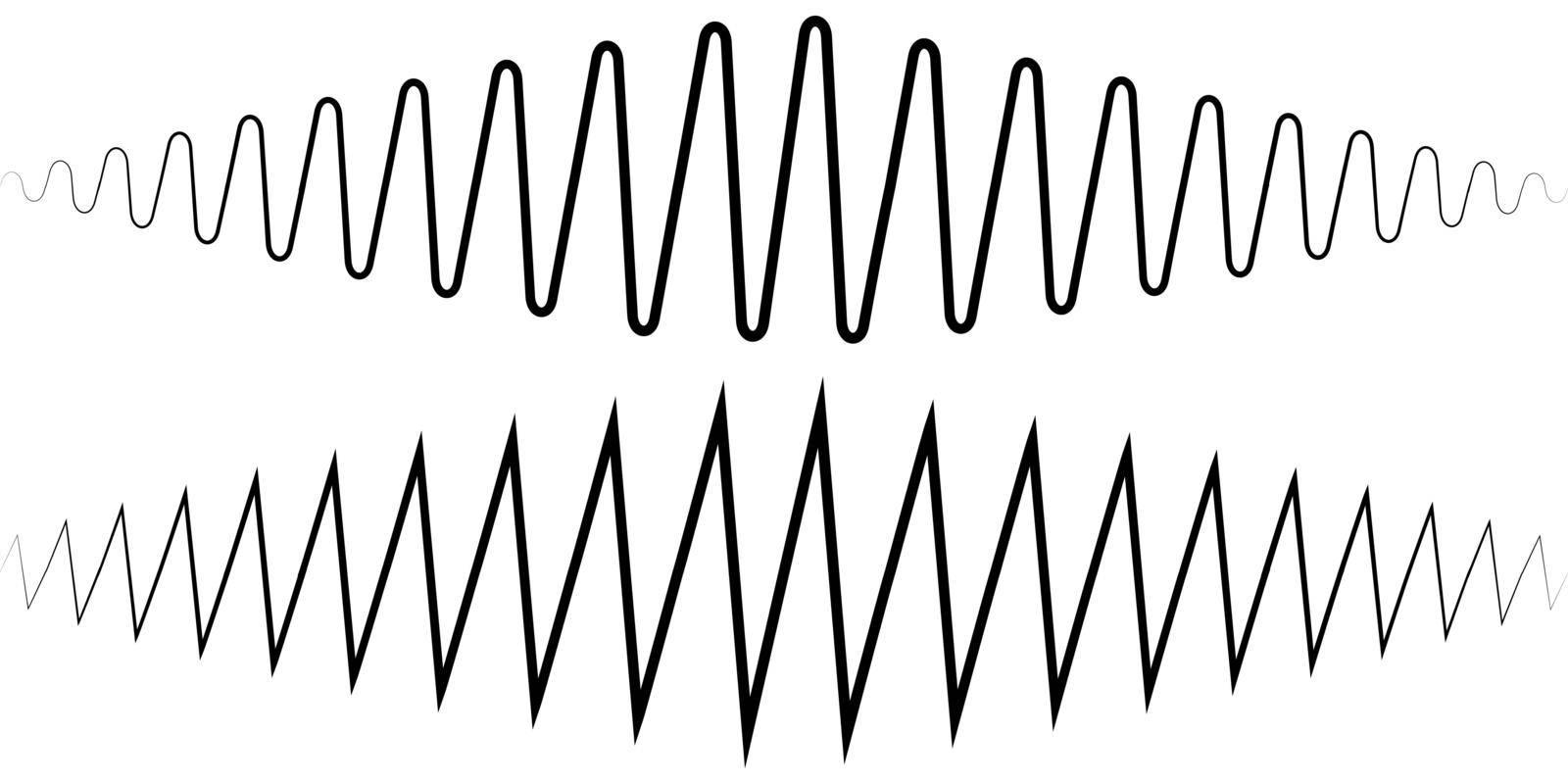 Audio sound wave. Sound wave amplitude tattoo voice recording, music audio icon, equalizer, radio logo and waveform amplitude music design ringtones by koksikoks