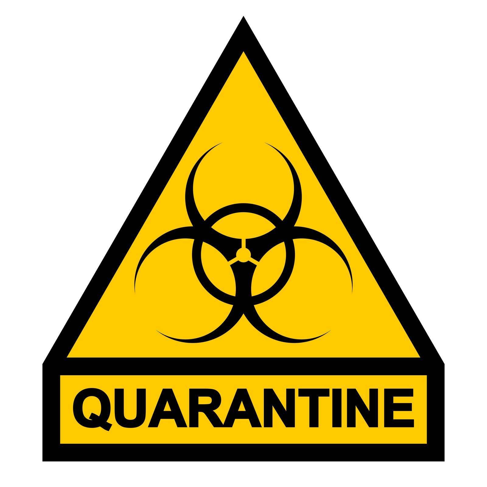 Sign symbol quarantine zone, area Stop Novel Coronavirus outbreak covid 19 2019 nCoV symptoms in Wuhan China, vector quarantine biohazard Sign biological activity threat alert by koksikoks