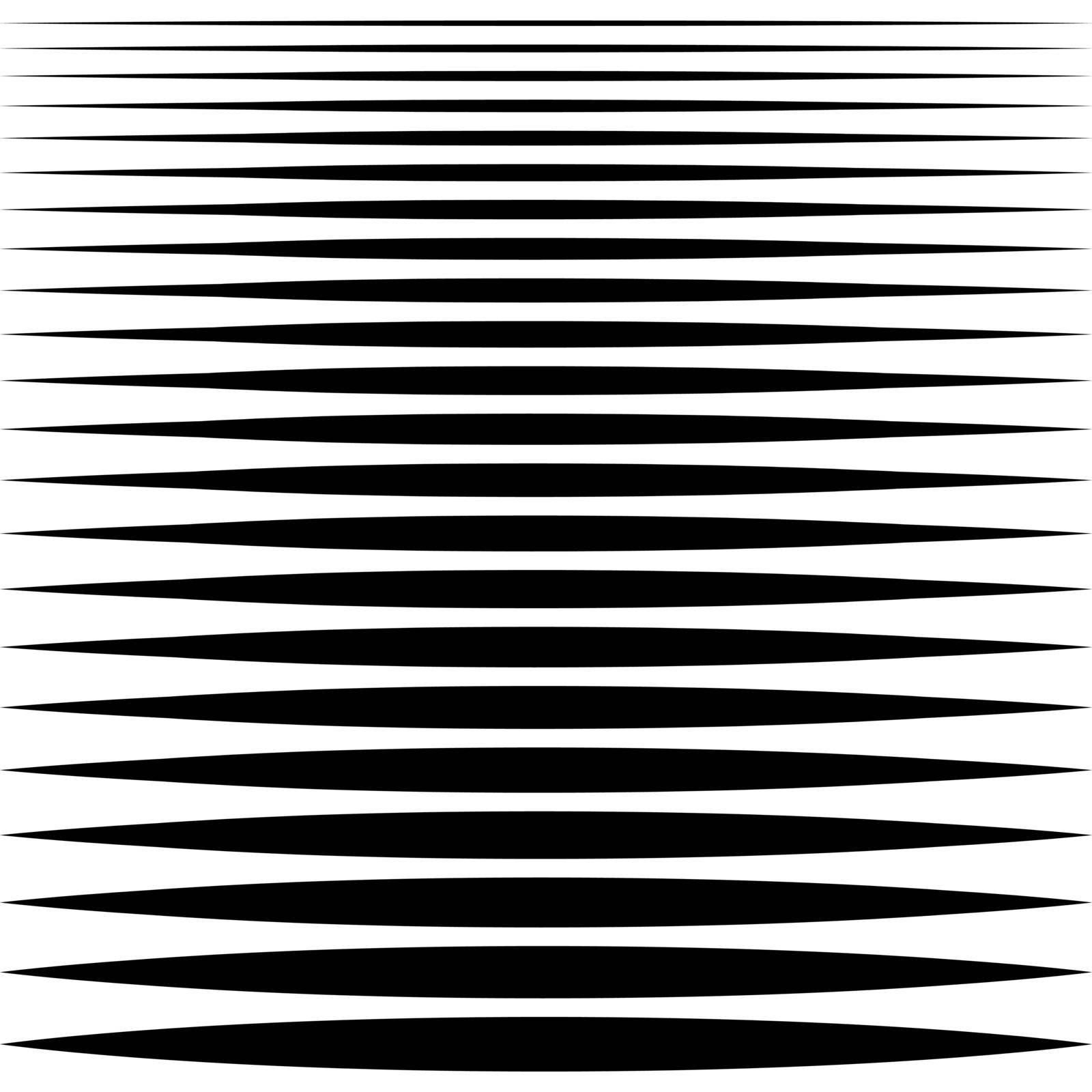 set of sharp horizontal lines different profile thickness, vector needle line design element by koksikoks