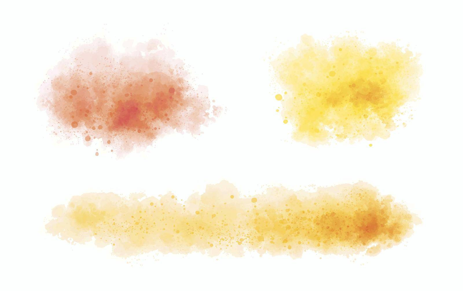 Watercolor on white background vector illustration by Myimagine
