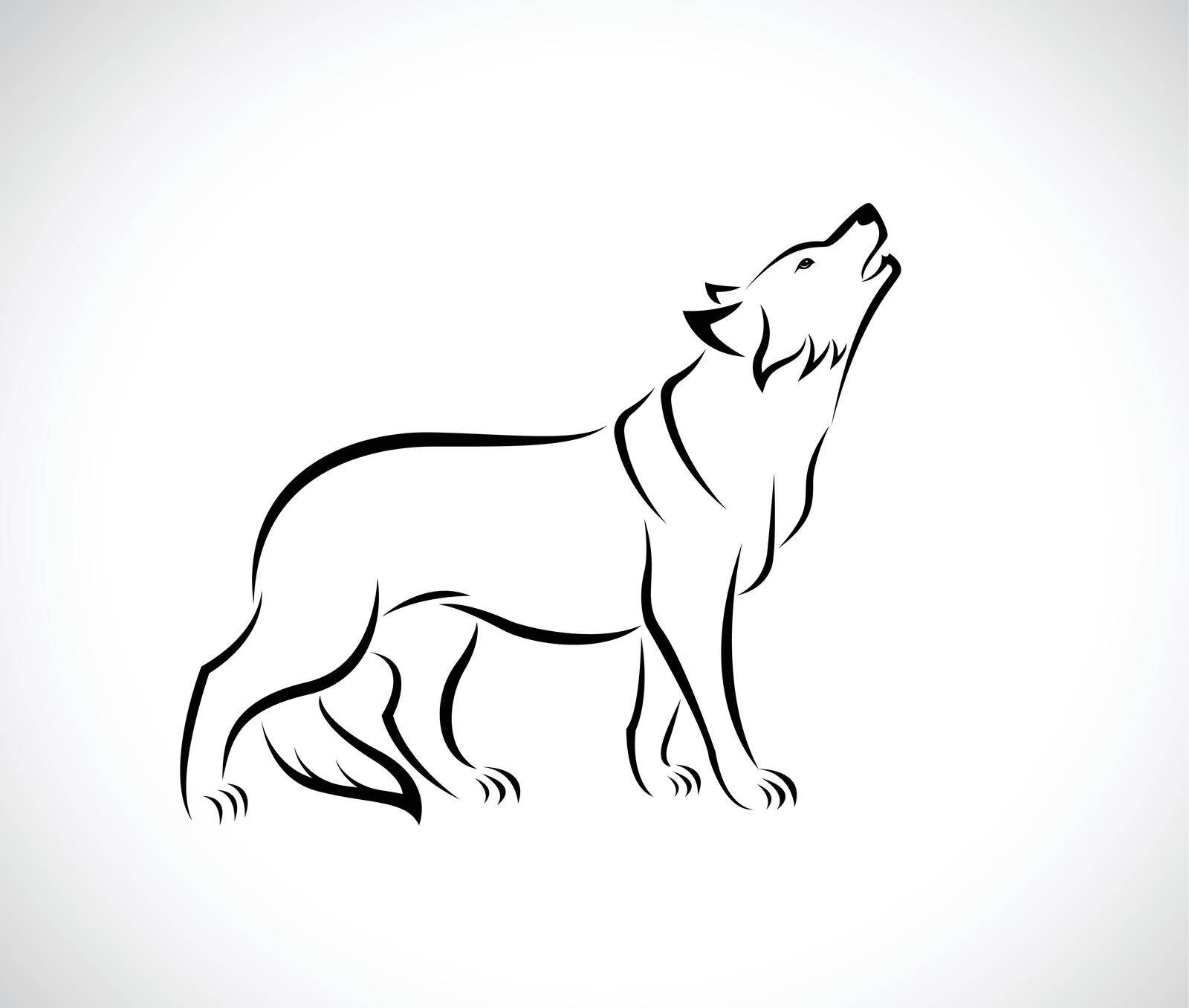 Vector of wolf design on white background. Easy editable layered vector illustration. Wild Animals.