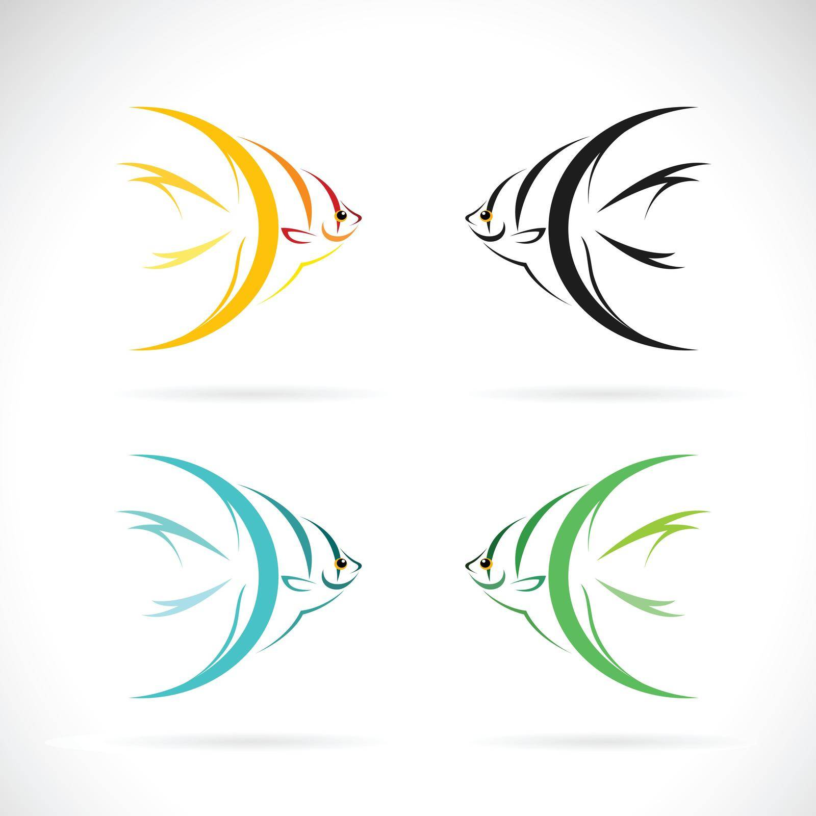 Vector of angel fish design on white background. Easy editable layered vector illustration. Farm Animals. Pets.
