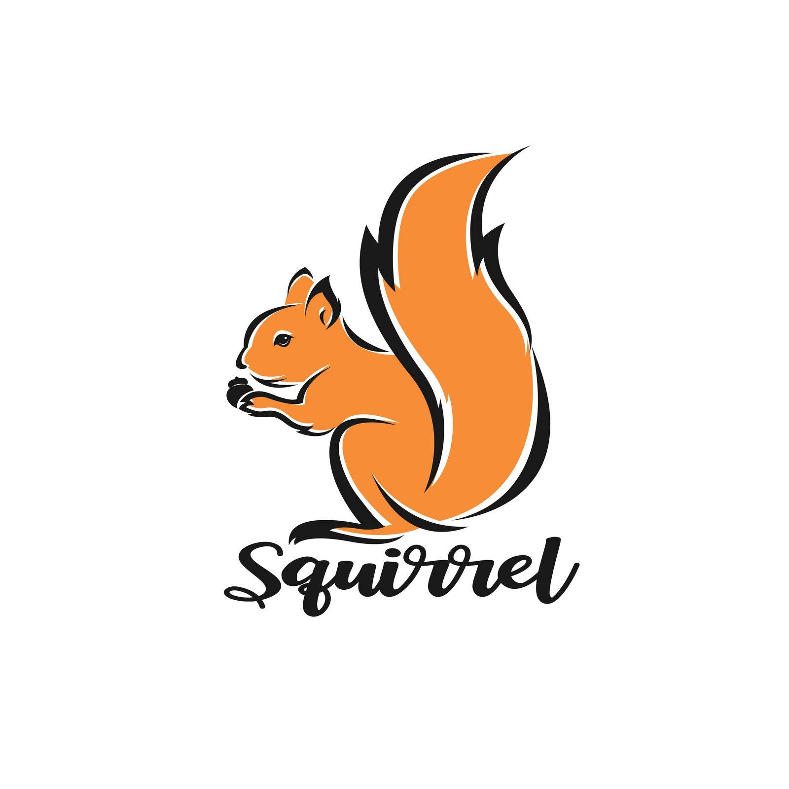 Vector of squirrel design on white background. Easy editable layered vector illustration. Wild Animals.