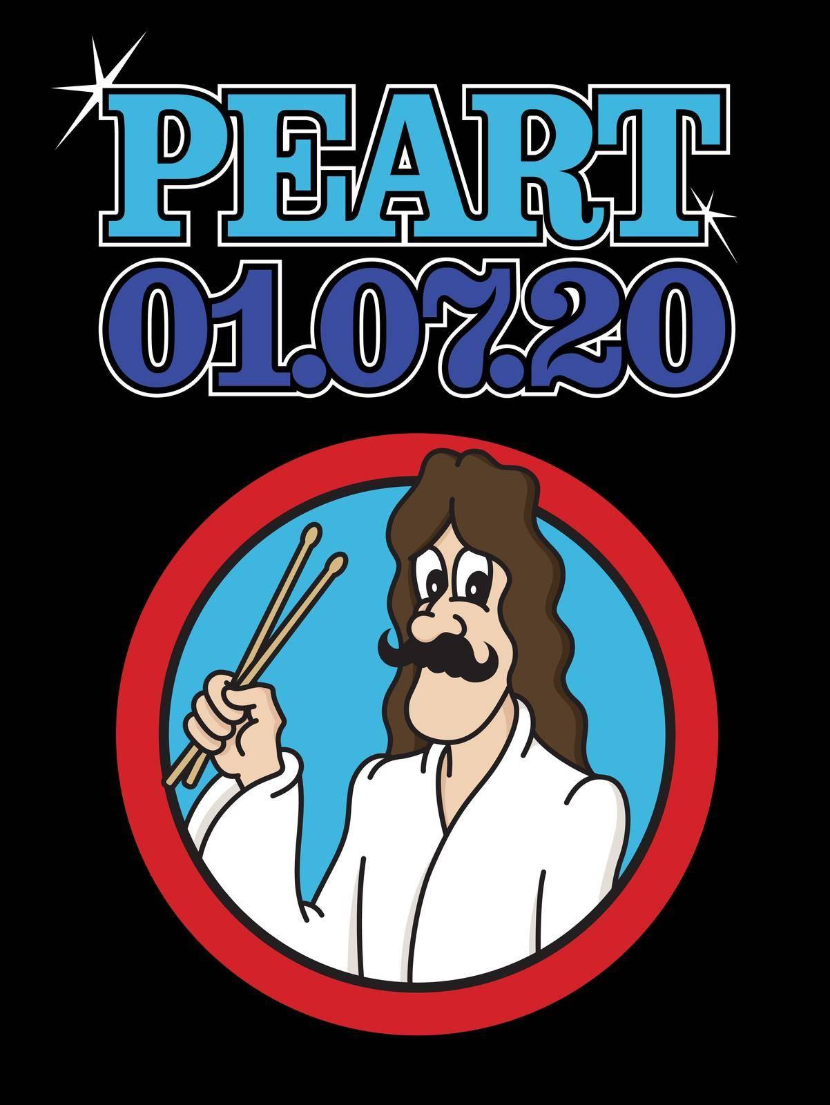 Commemorative cartoon illustration of rockstar Neil Peart. by fiftyfootelvis