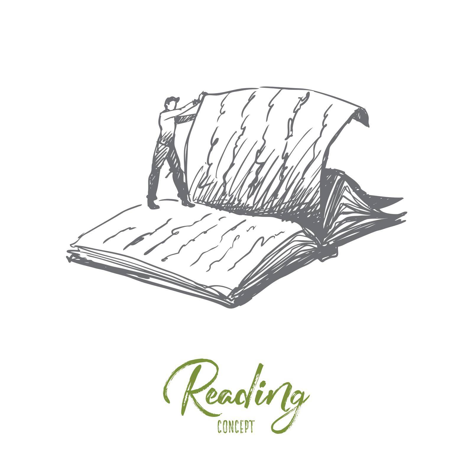 Book, reading, library, read concept. Hand drawn isolated vector. by Vasilyeva