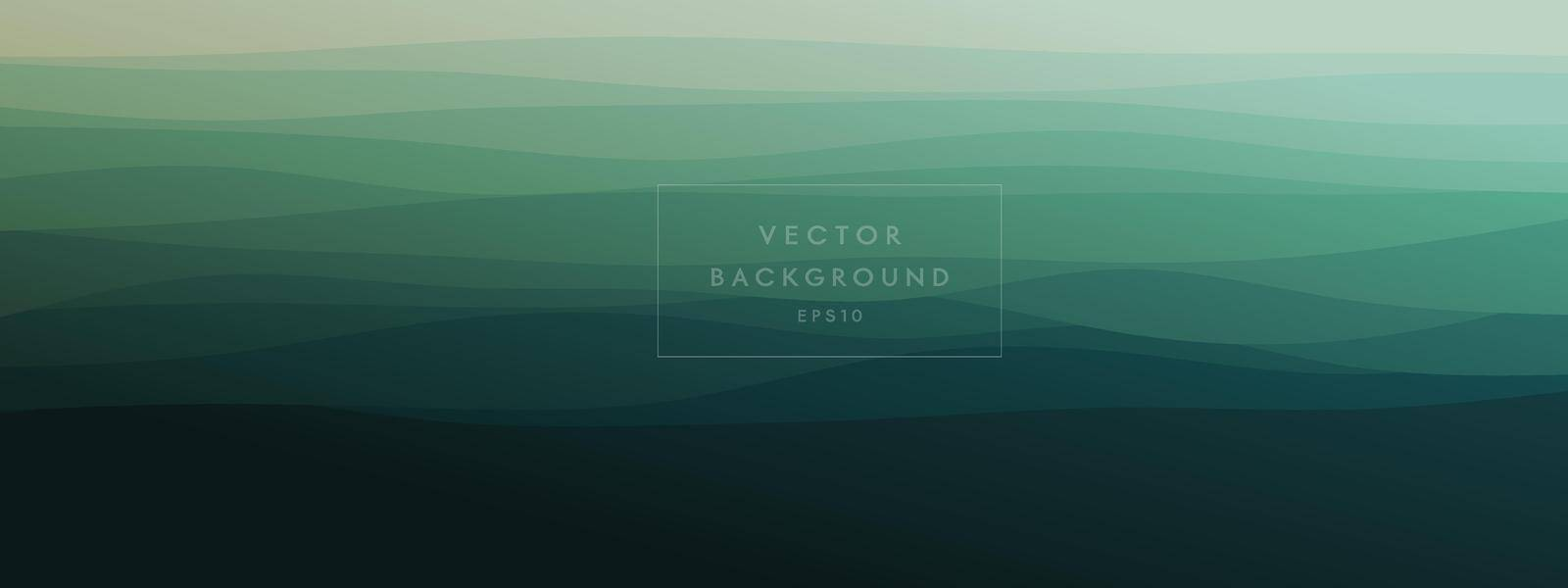 abstract wavy lines geometric trendy gradient  background natural dark green combined color. Modern template for poster business card landing page website. vector illustration eps 10 by MariaTem
