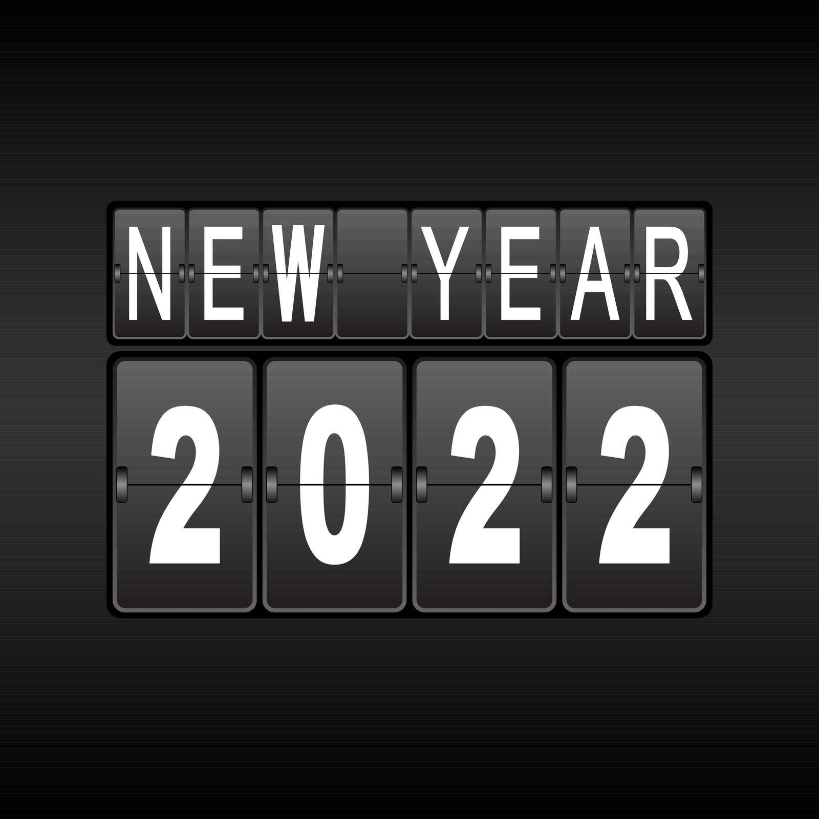 Odometer with the numbers 2022. The new year 2022 is on the odometer. Merry Christmas and Happy New Year by Grommik