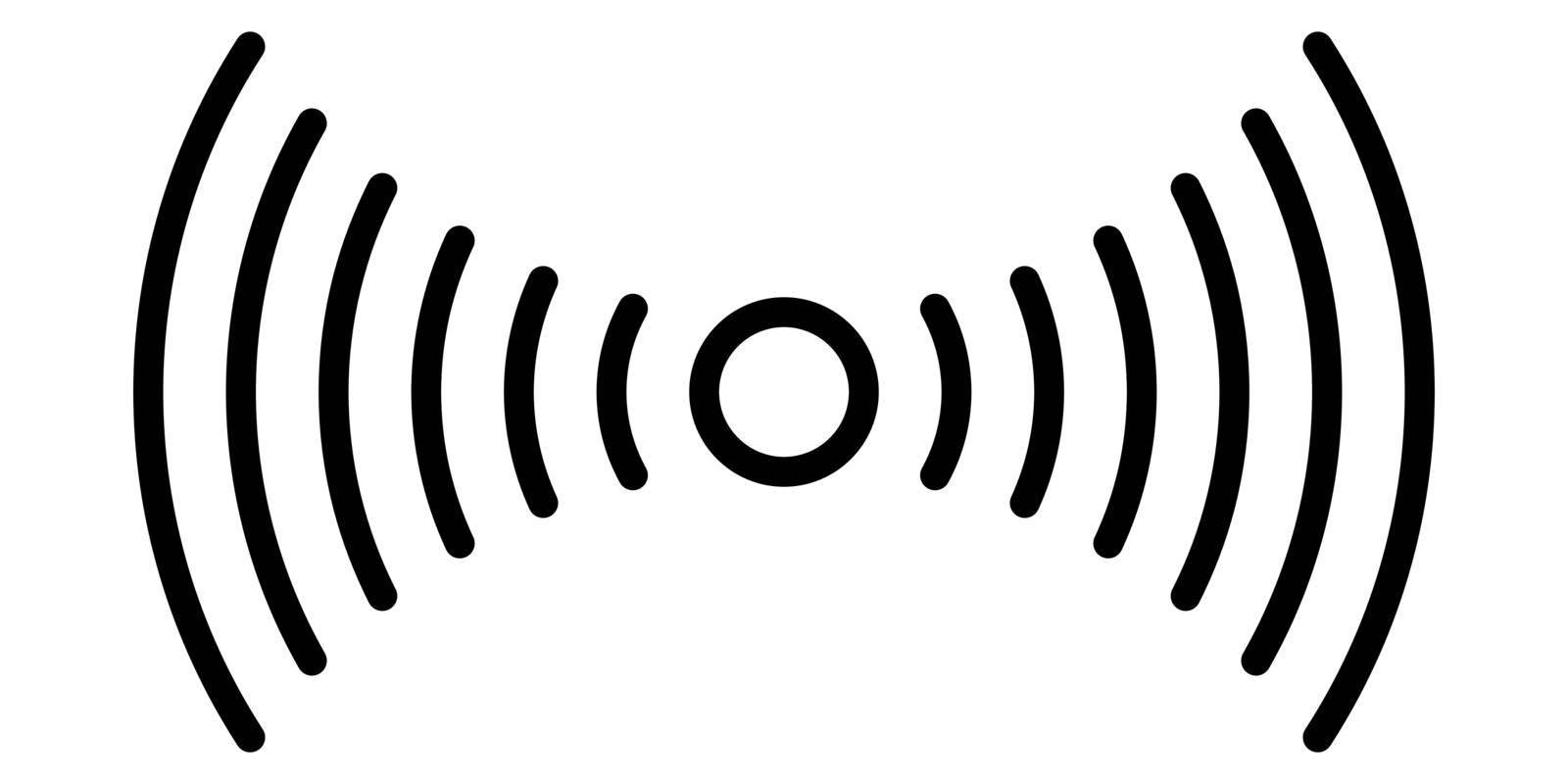 Smartphone fingerprint sensor icon simple linear logo stock illustration