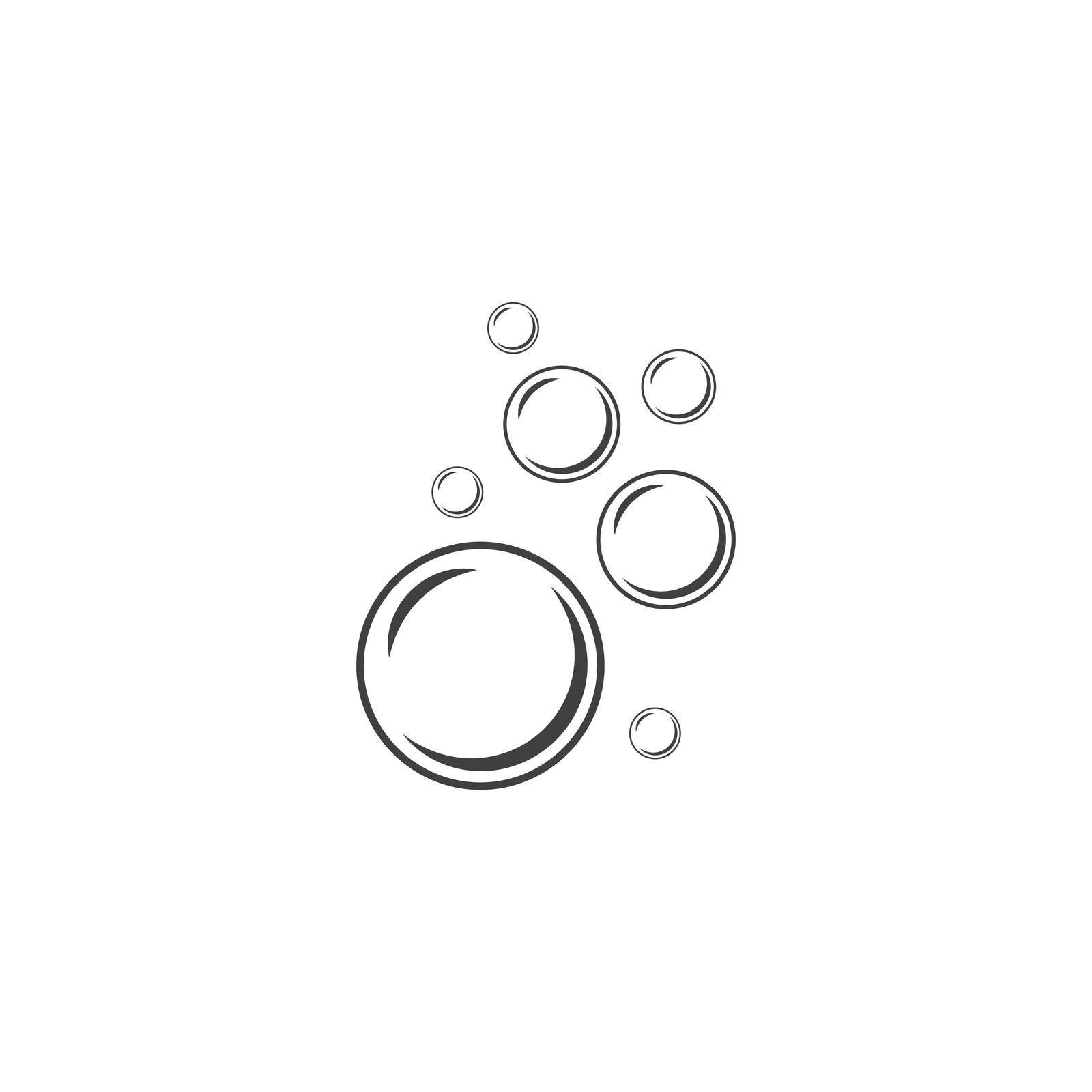 Natural realistic water bubble illustration vector design