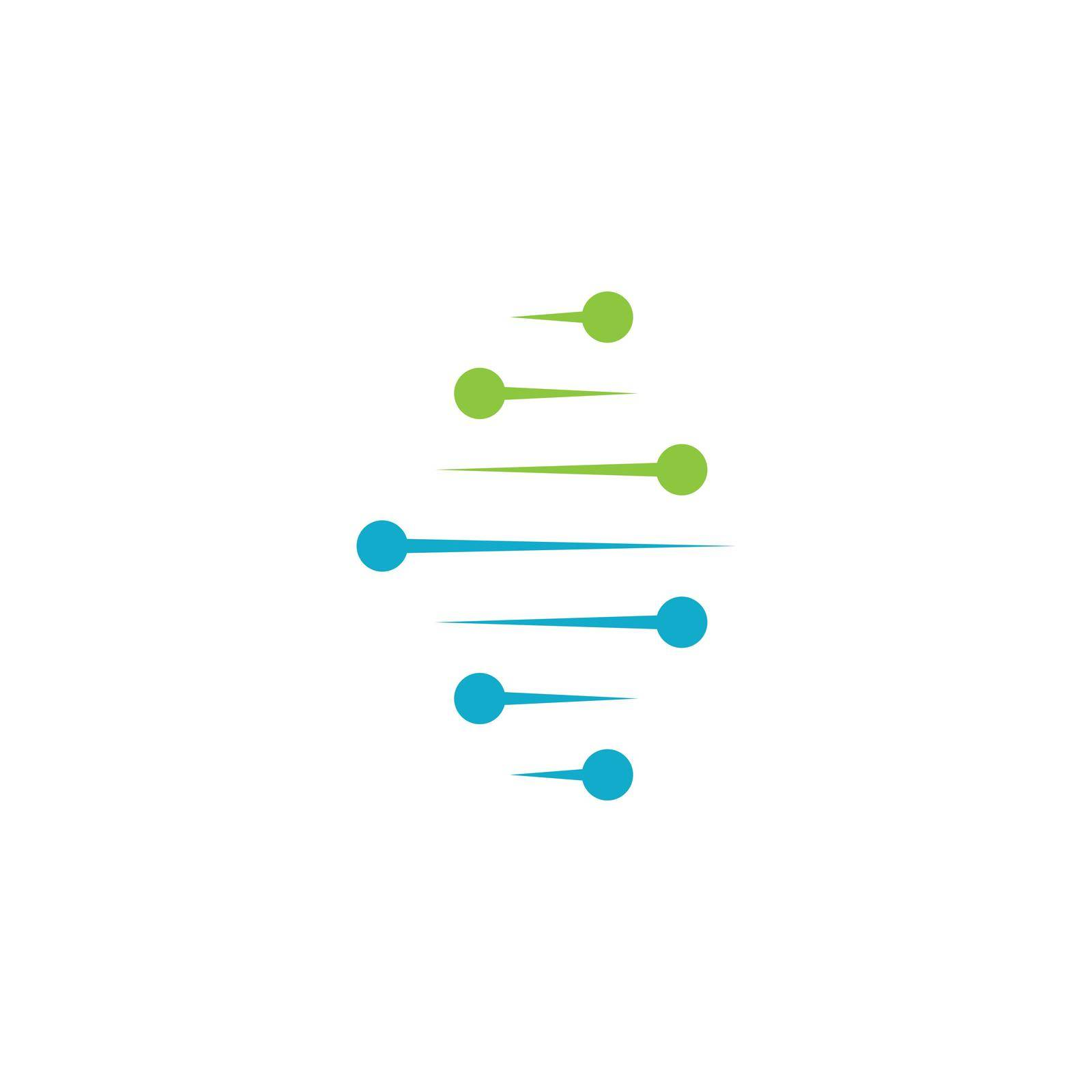 DNA illustration logo vector design