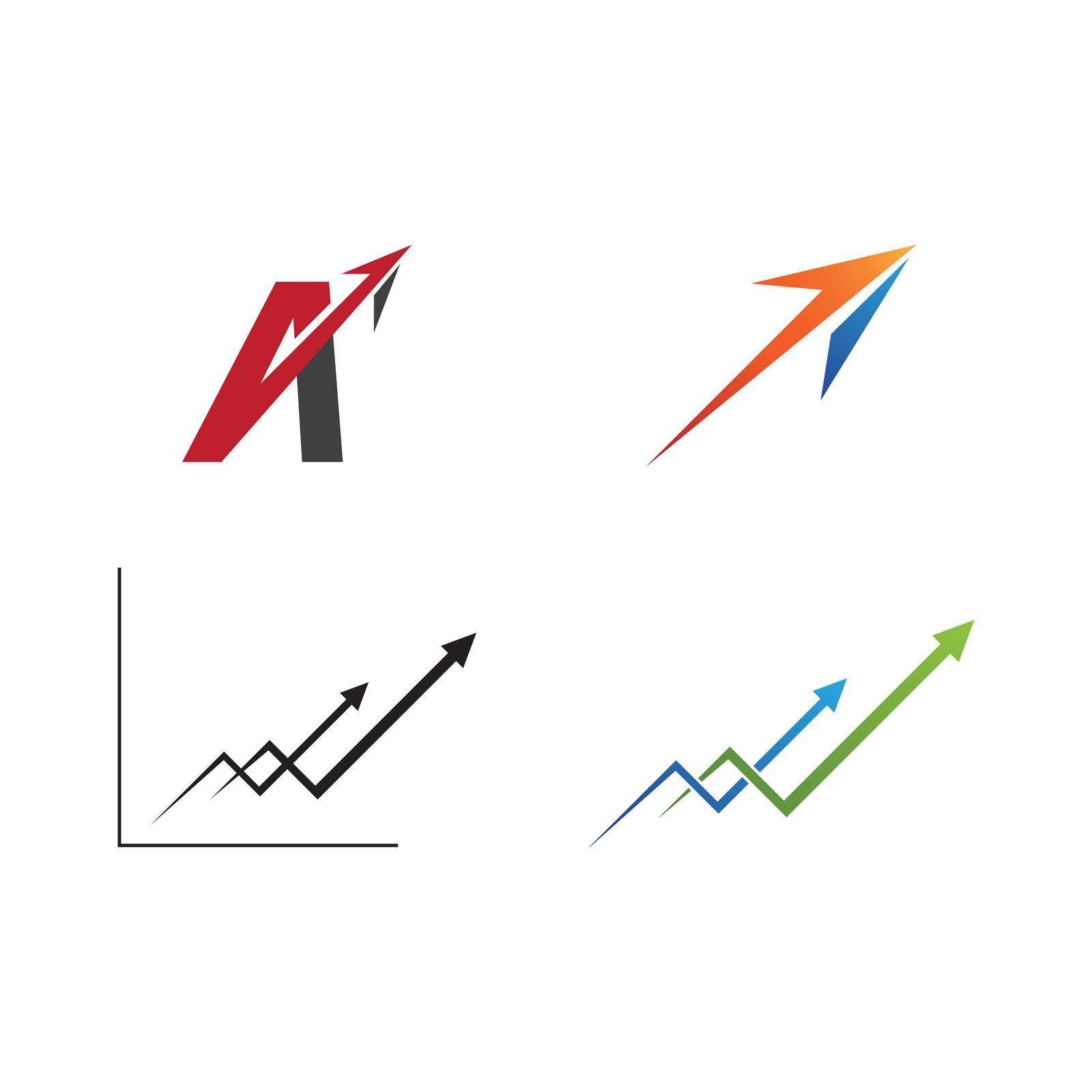 Arrow ilustration logo vector template