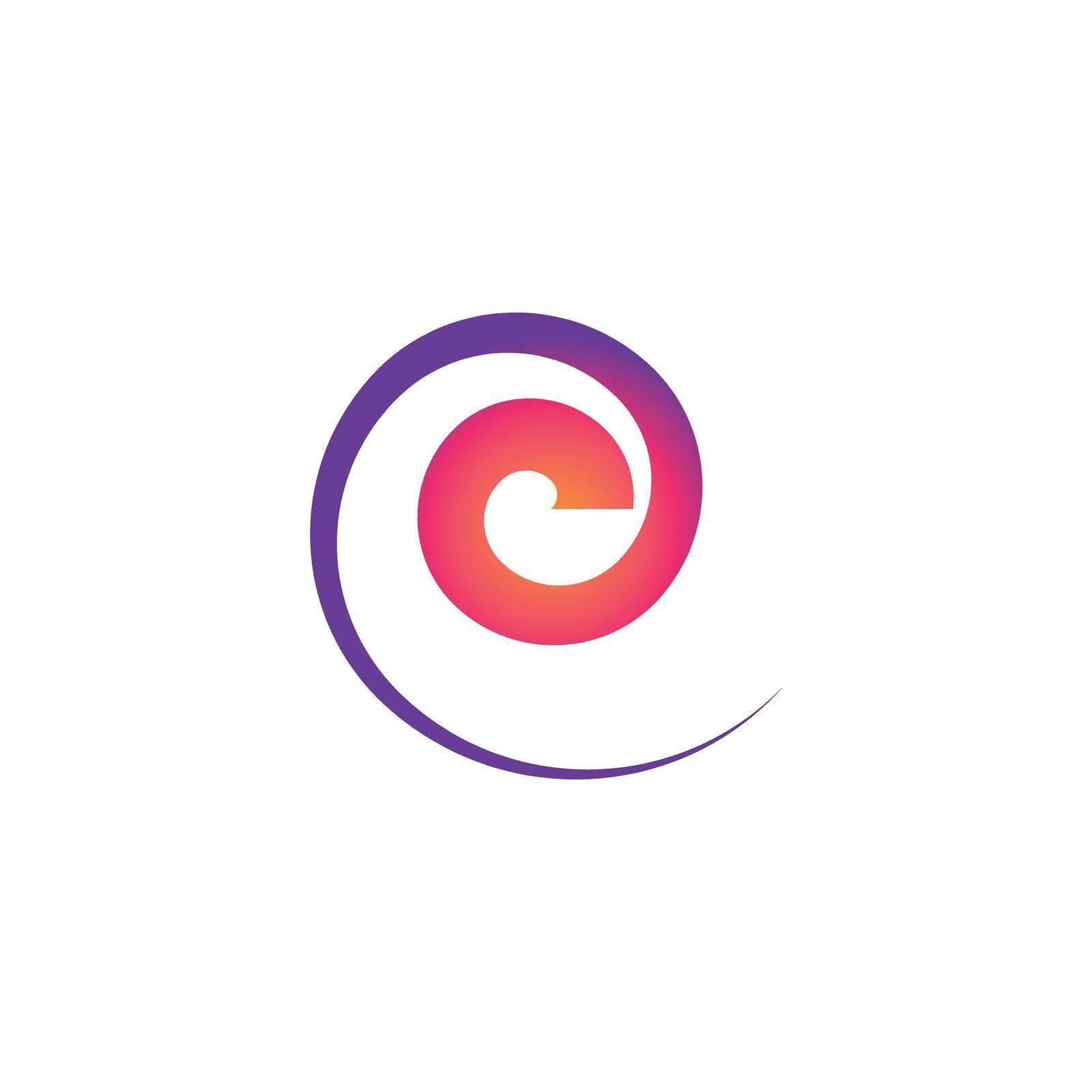 Abstract circle vector flat design