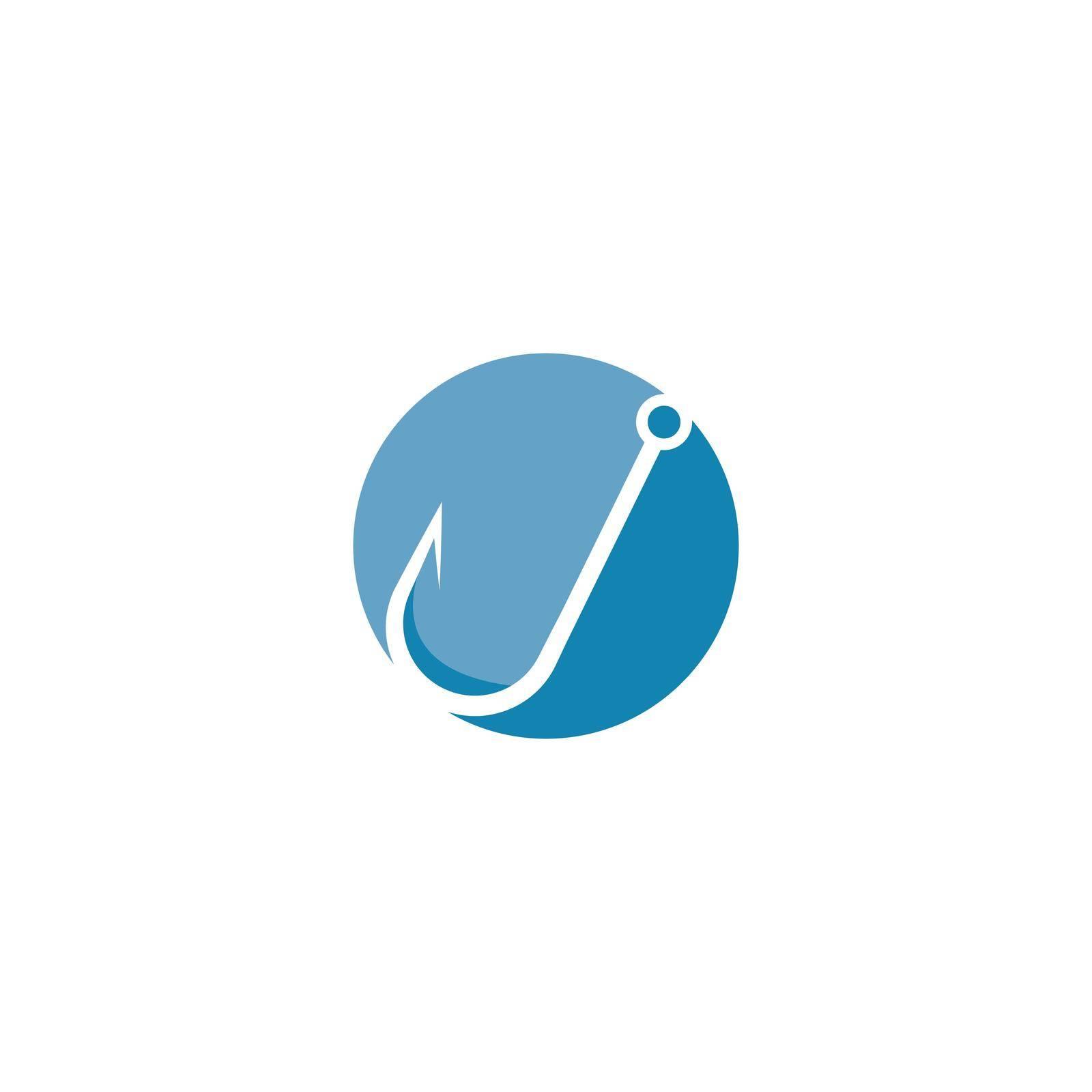 Fish hook icon vector design