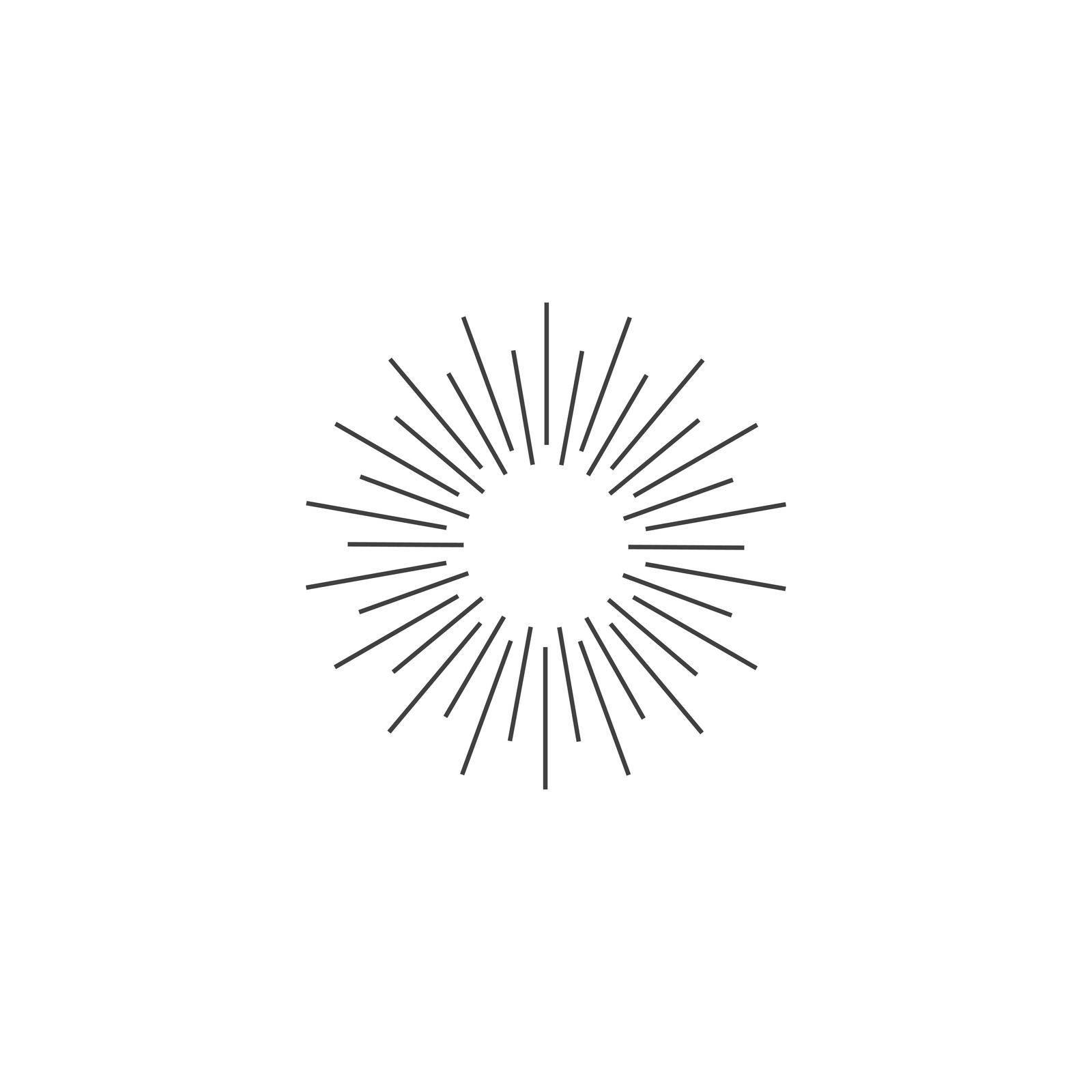 Sunburst icon vector flat design