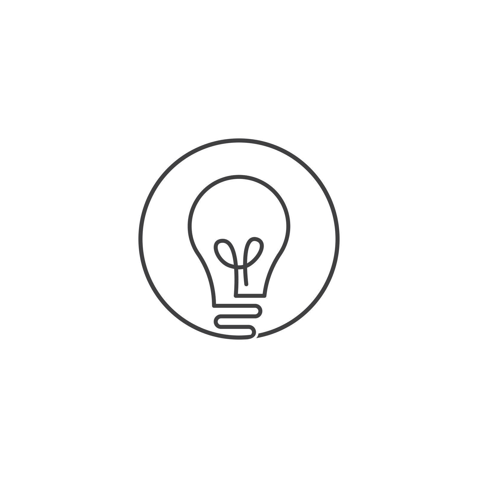Bulb technology ilustration logo vector design