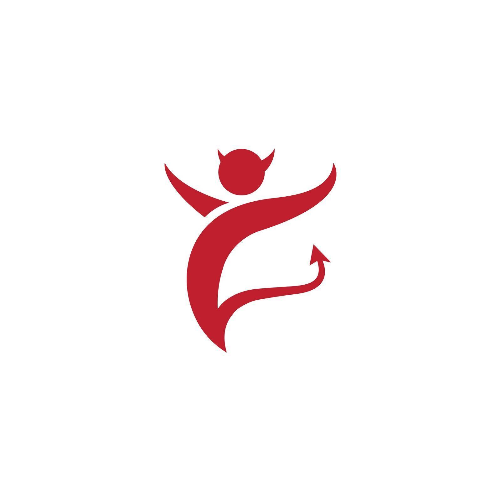 Devil logo ilustration vector template