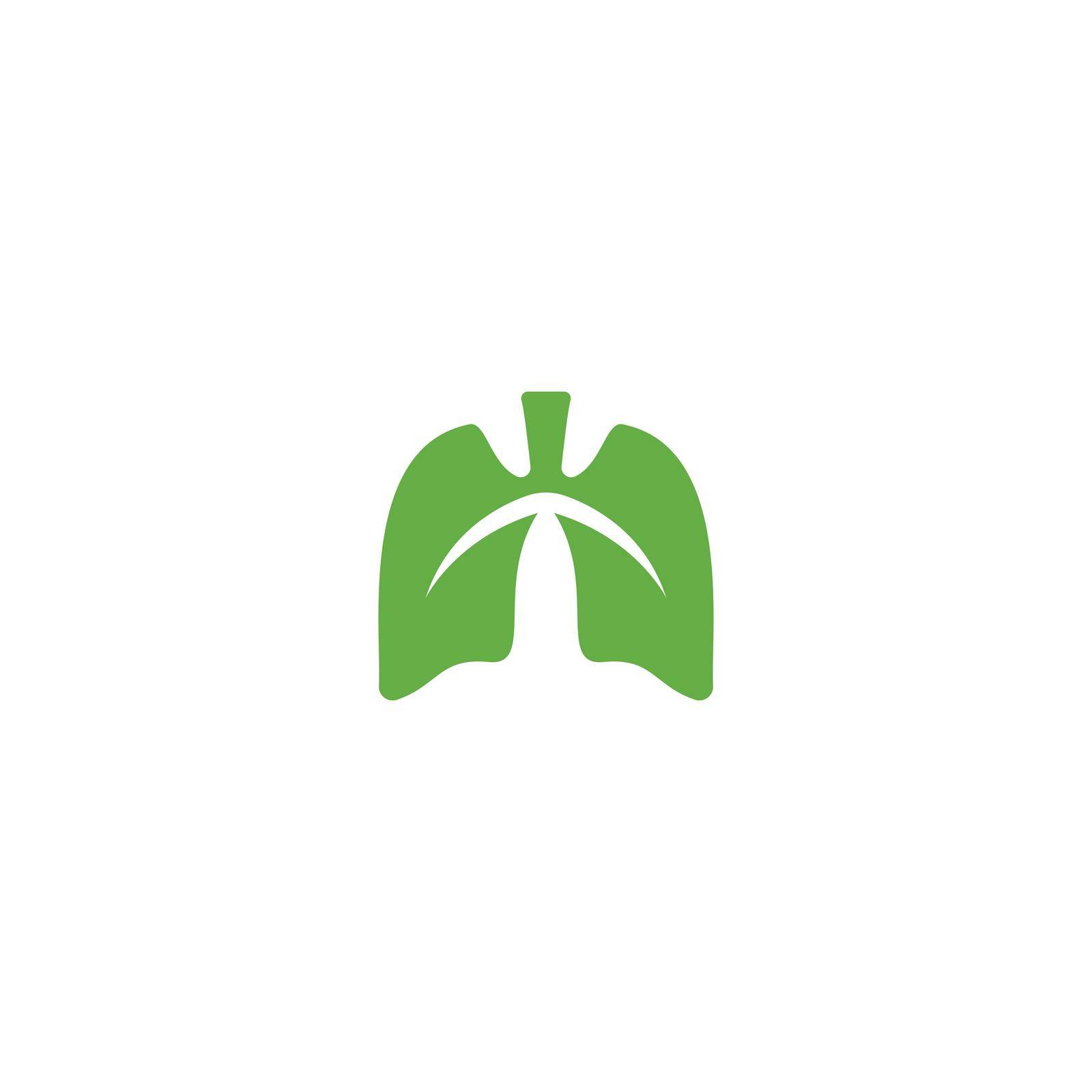 Lungs illustration vector template design