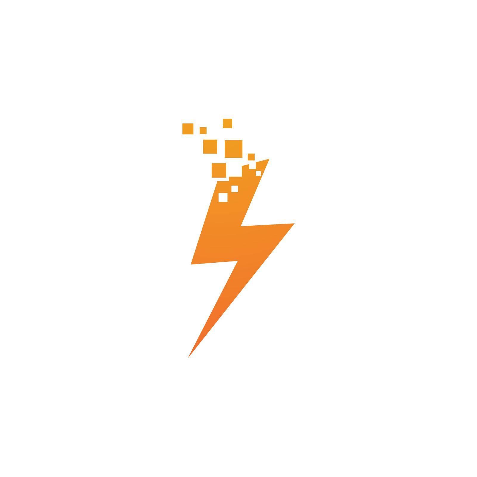 Power lightning logo vector design