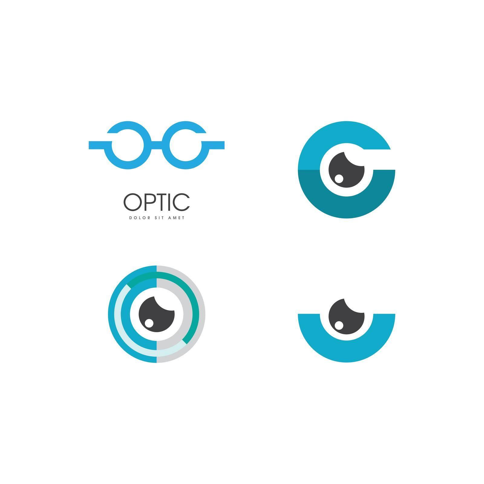 Optic logo vector flat design