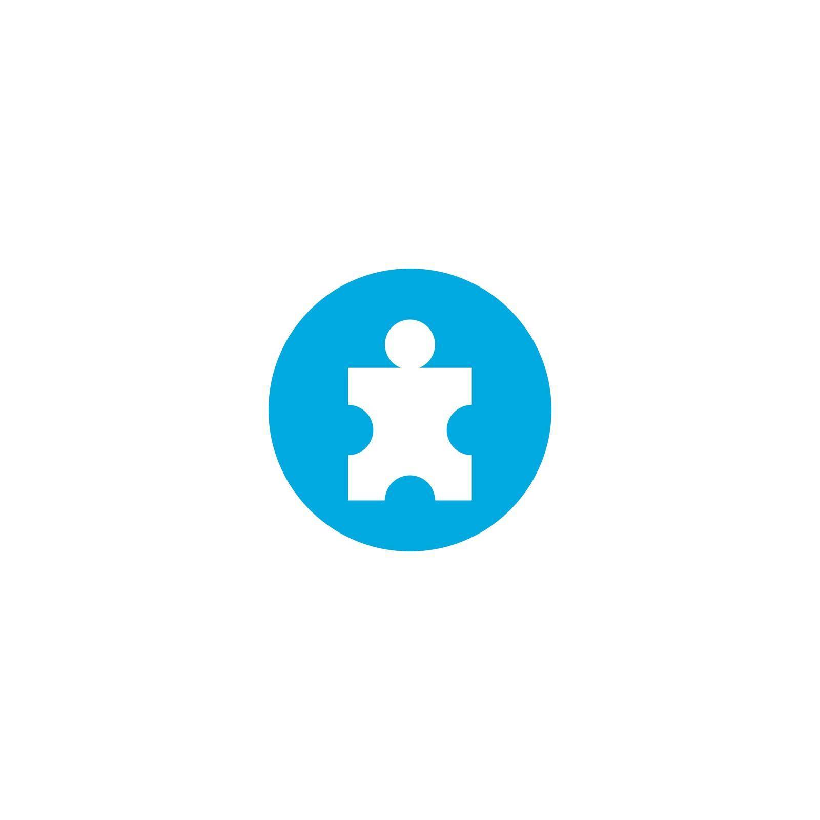 People puzzle illustration vector design