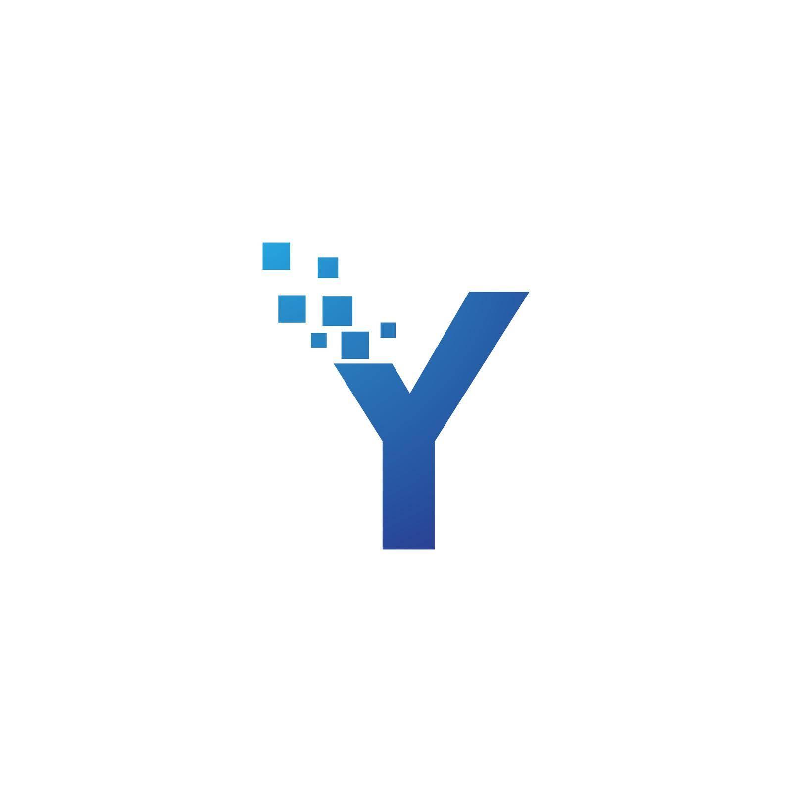 Initial letter alphabet pixel style logo vector design
