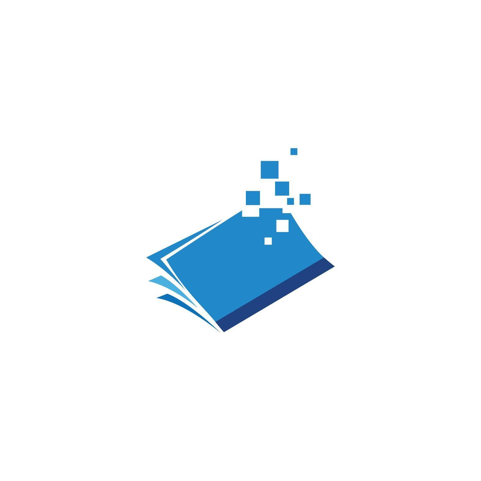 E-book modern digital book design vector