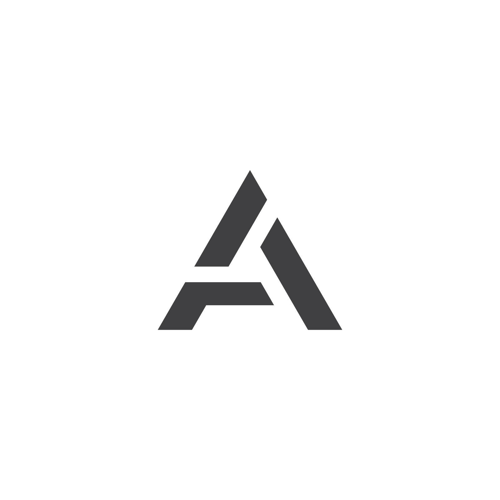 A initial letter logo template