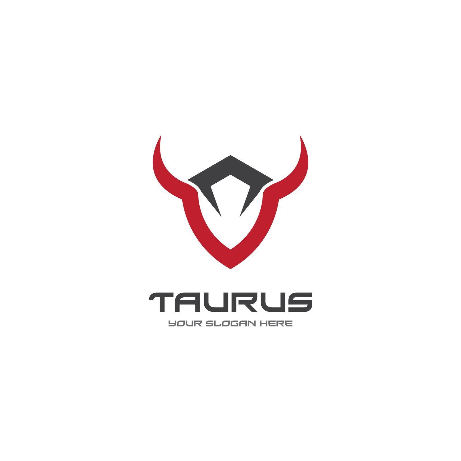 Taurus logo template vector design illustration