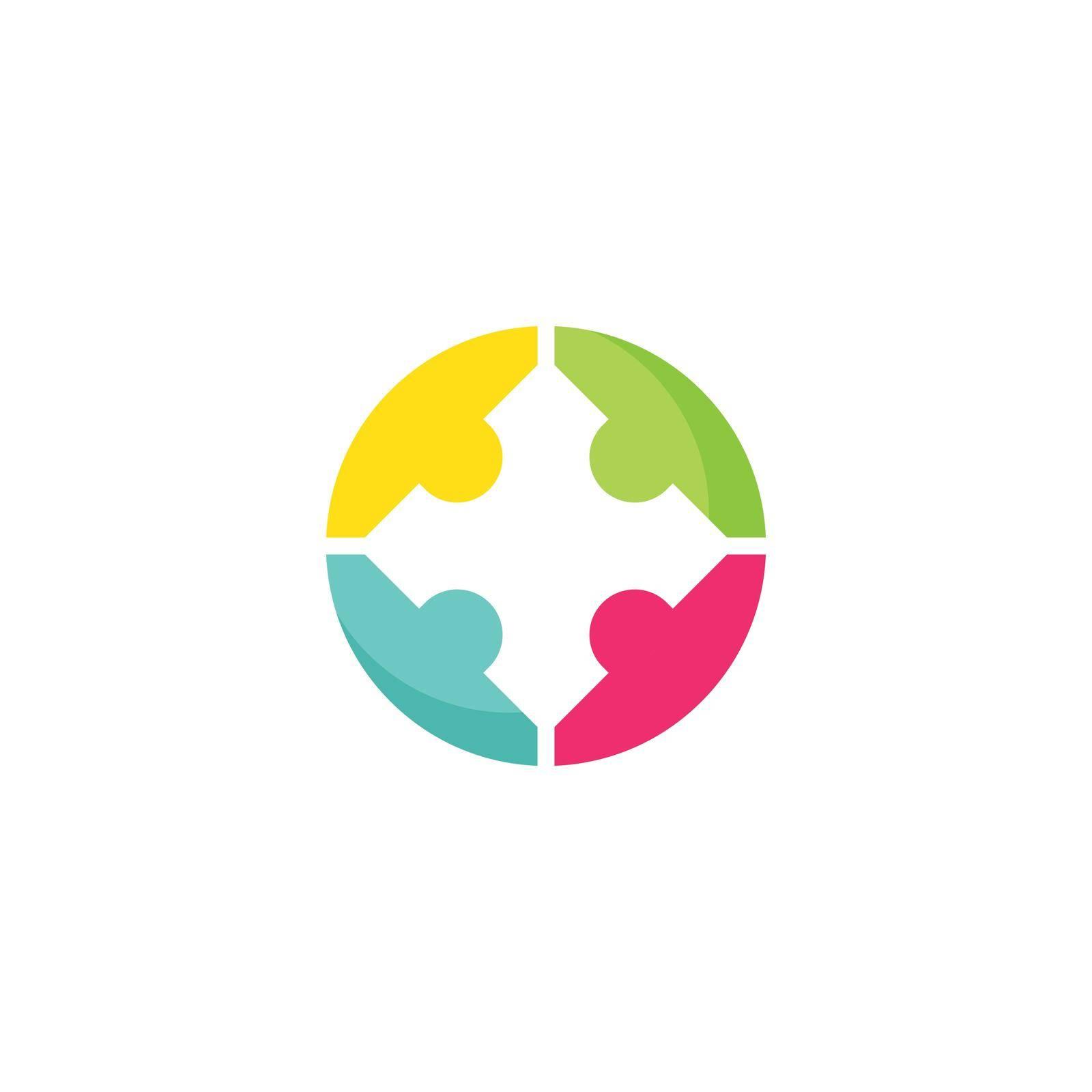 Community, network and social logo design
