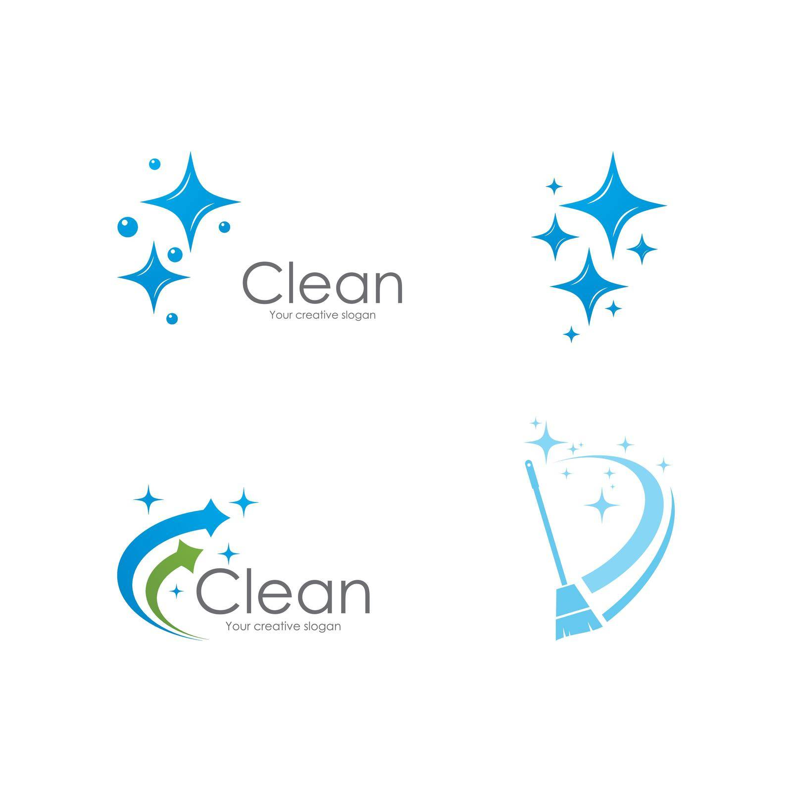 Cleaning logo and symbol ilustration vector template