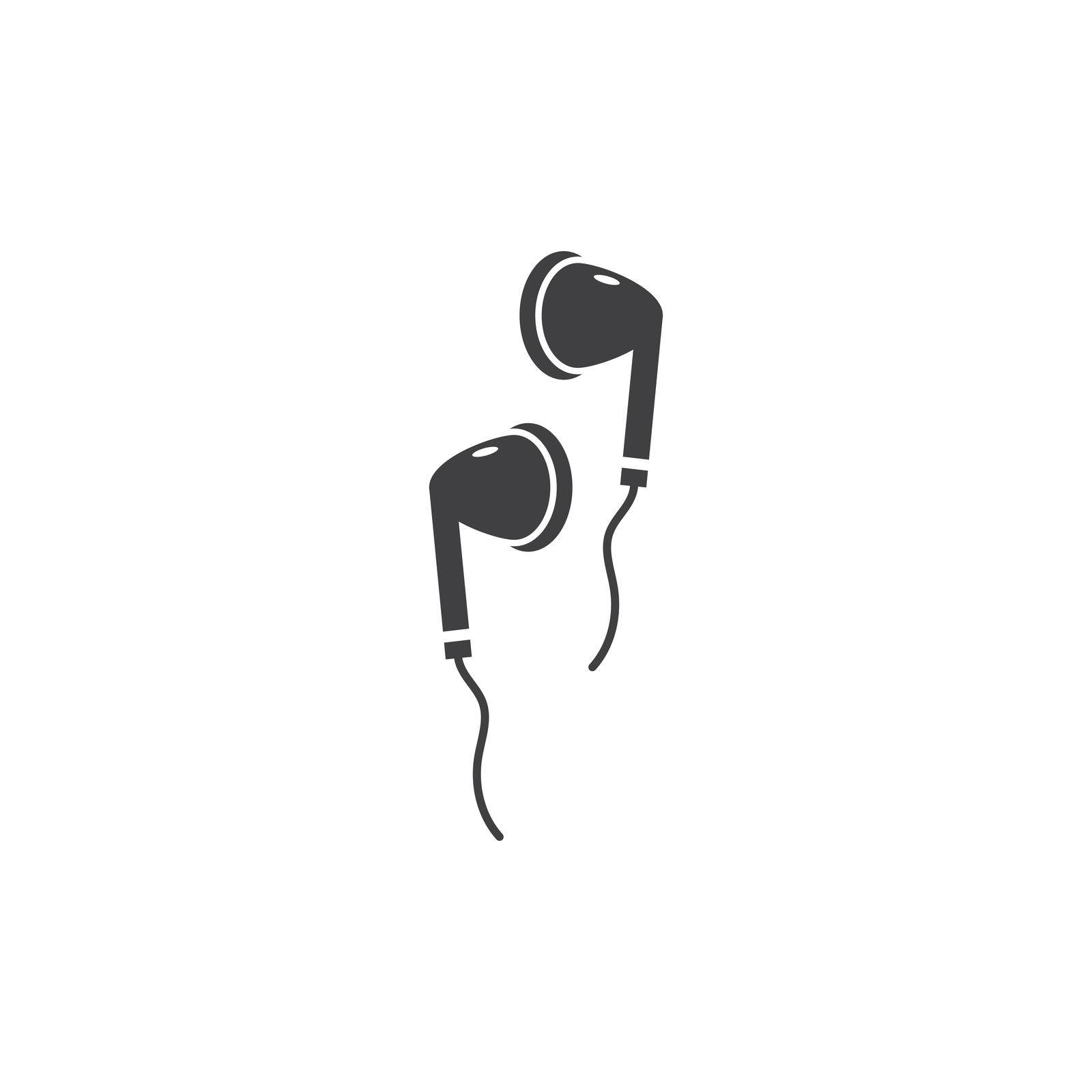 Headphone, earphone icon vector flat design