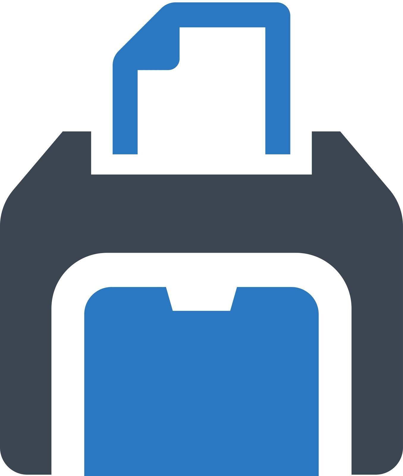 Printer equipment icon. Vector EPS file.