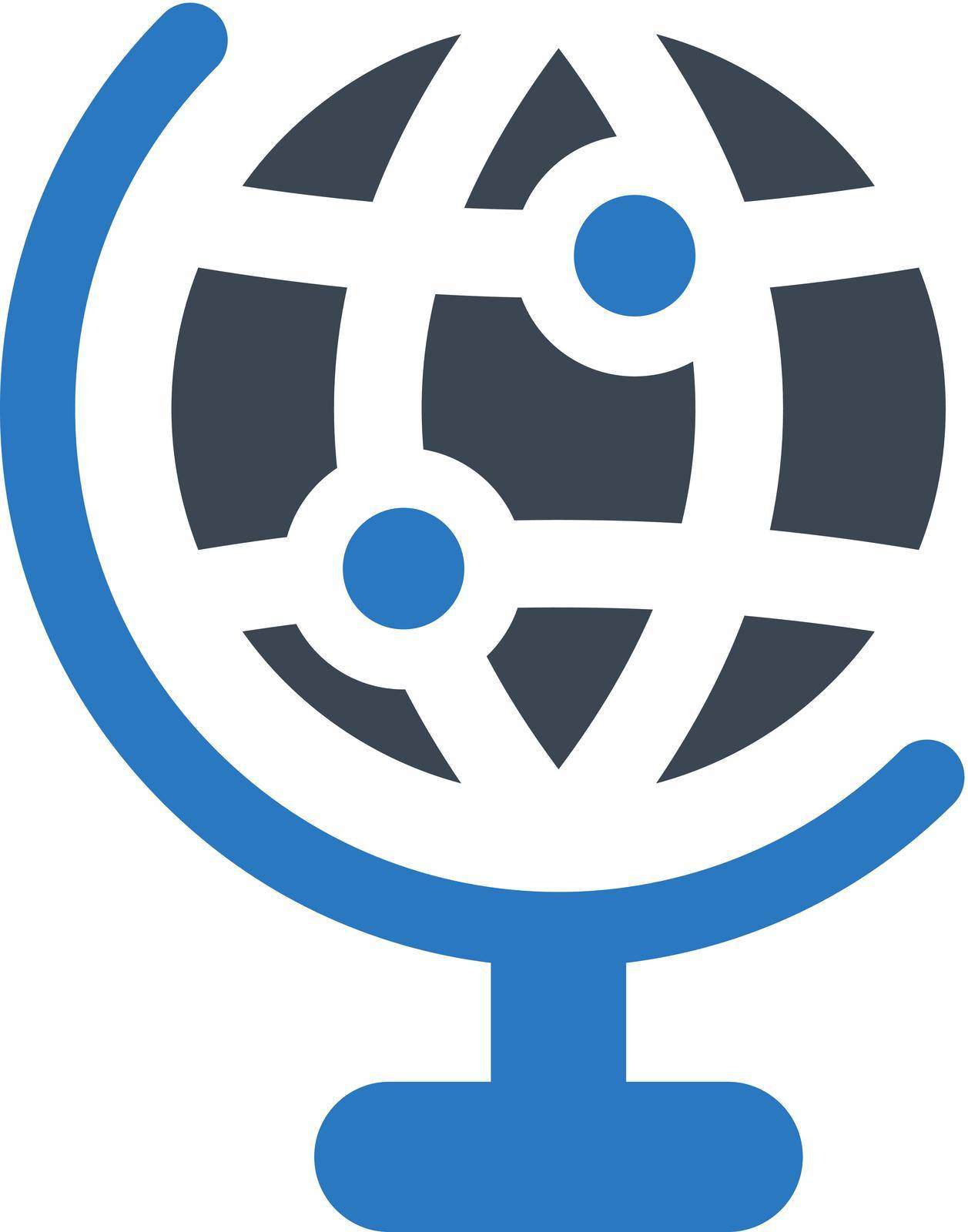 Global icon. Vector EPS file.