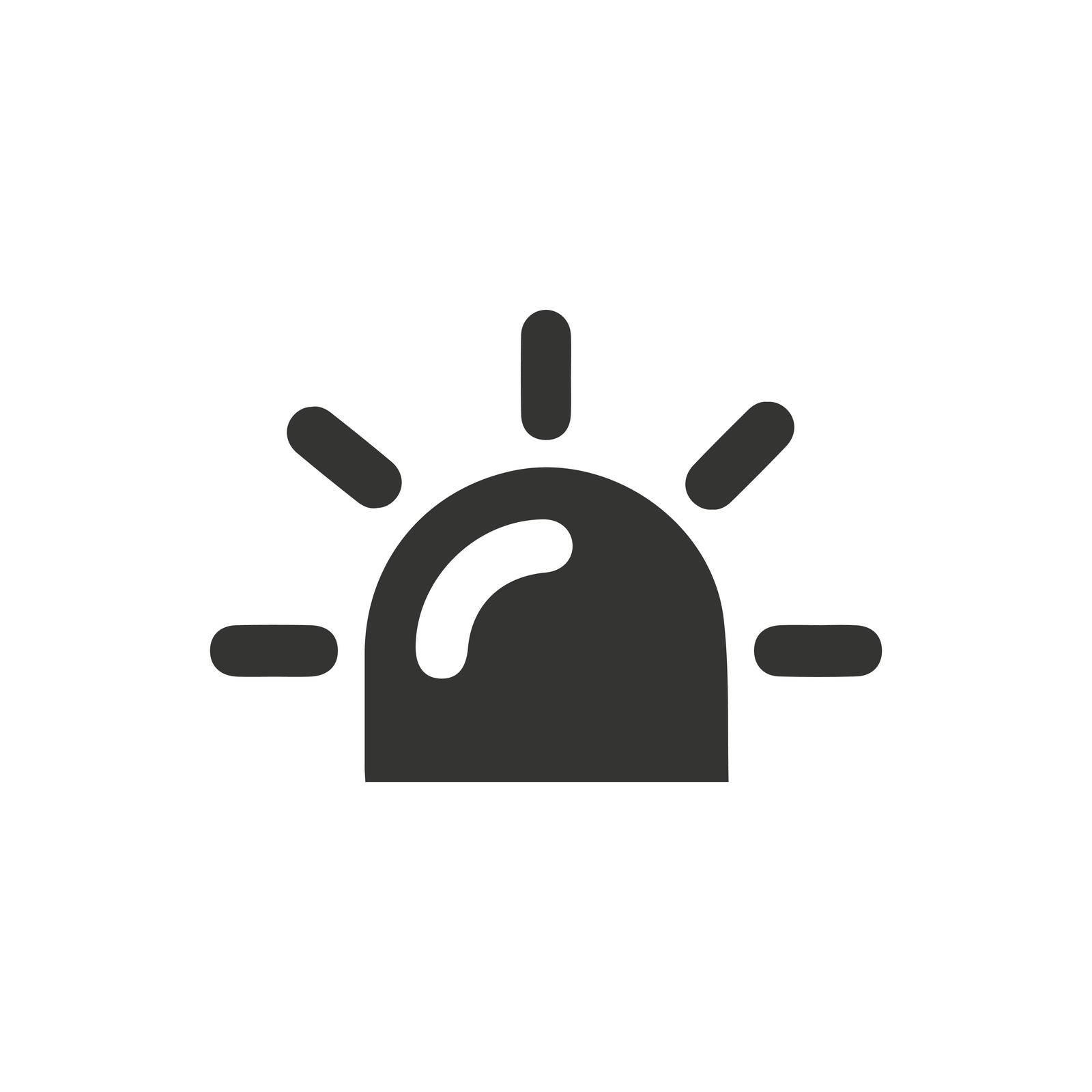 Siren icon. Vector EPS file. icon. Vector EPS file.