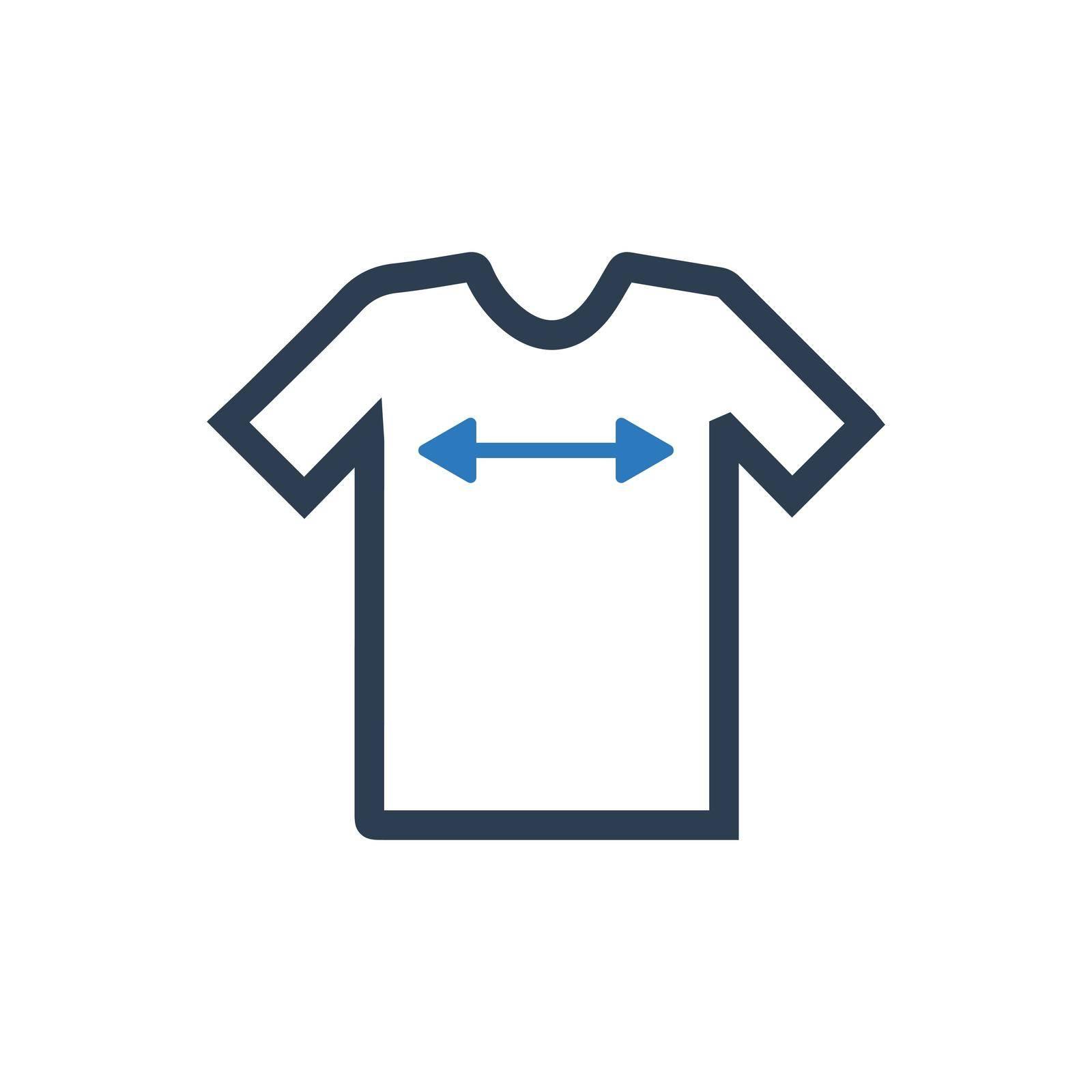 Shirt Sizing icon. Vector EPS file.