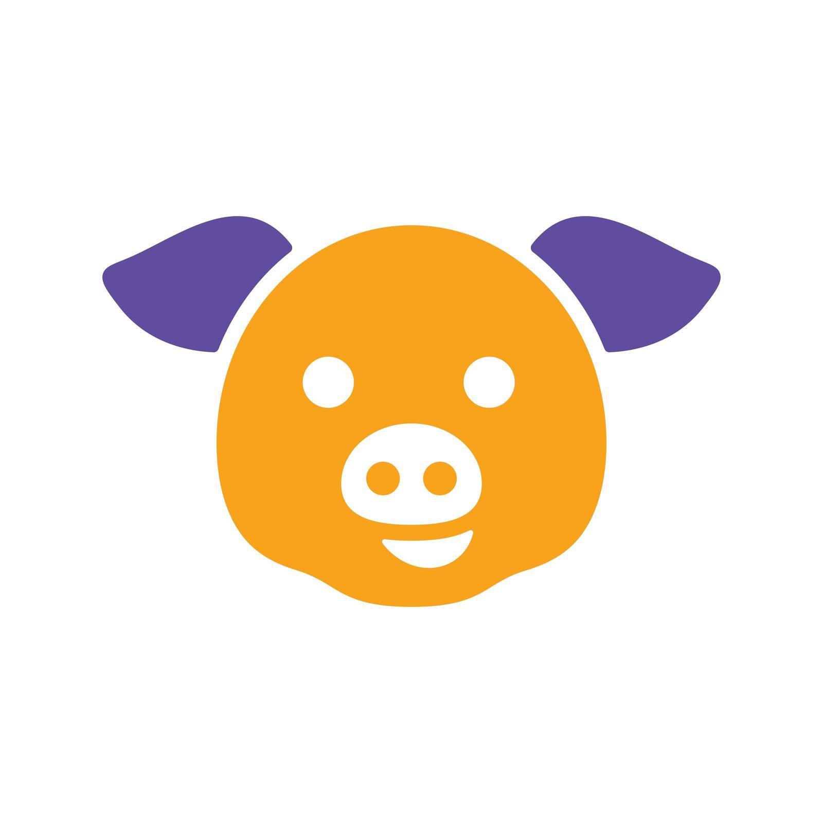 Pig glyph icon. Animal head. Farm sign. Graph symbol for your web site design, logo, app, UI. Vector illustration