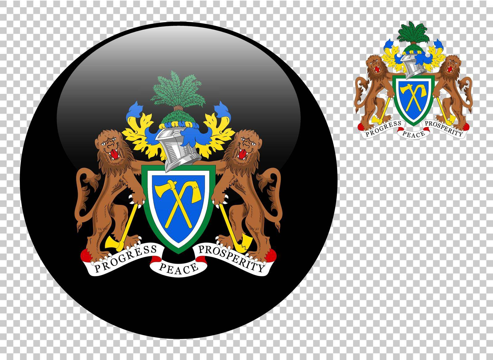 Coat of arms of Gambia vector illustration on a transparent background