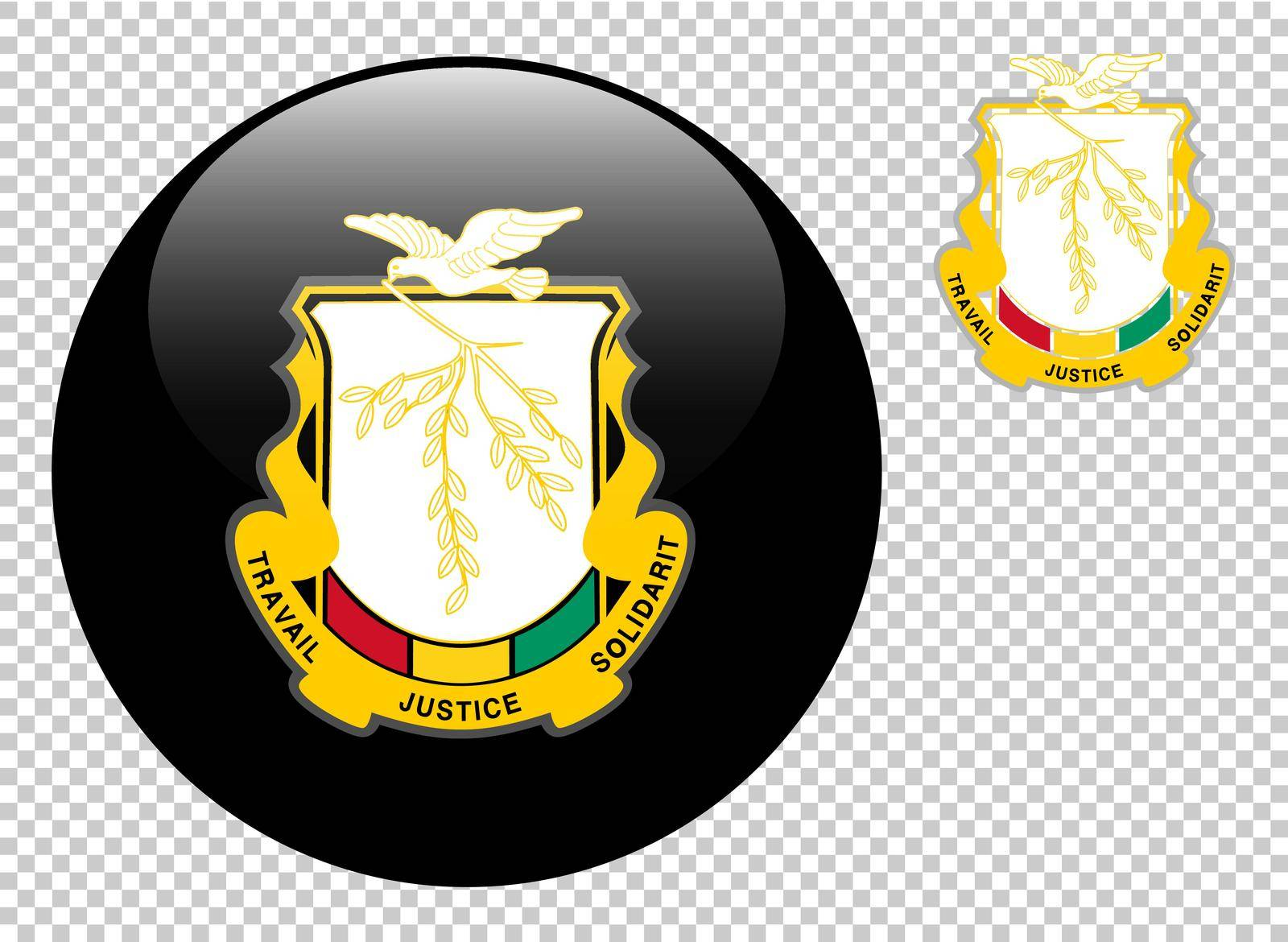 Coat of arms of Guinea vector illustration on a transparent background