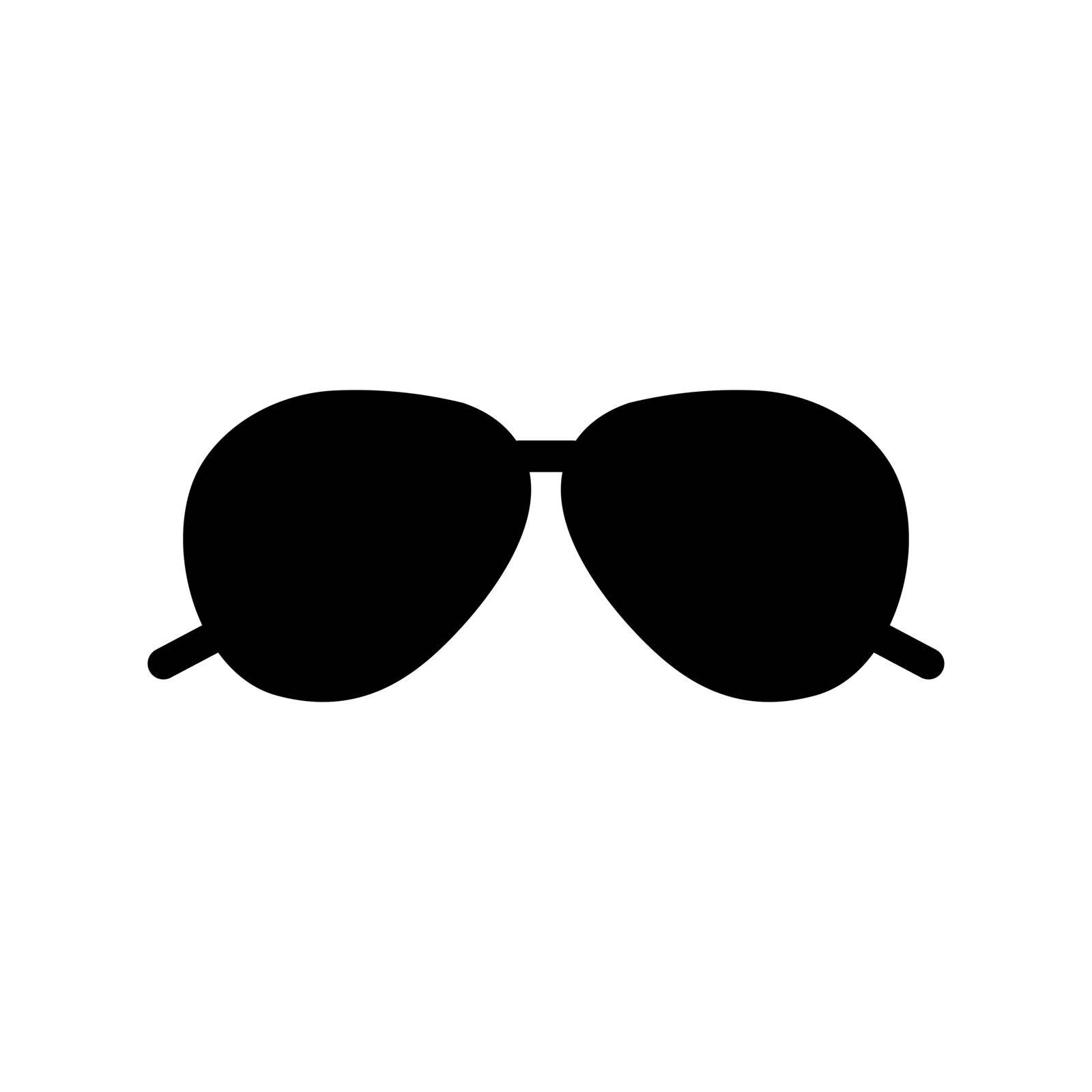 Sunglasses flat vector glyph icon. Summer sign. Graph symbol for travel and tourism web site and apps design, logo, app, UI