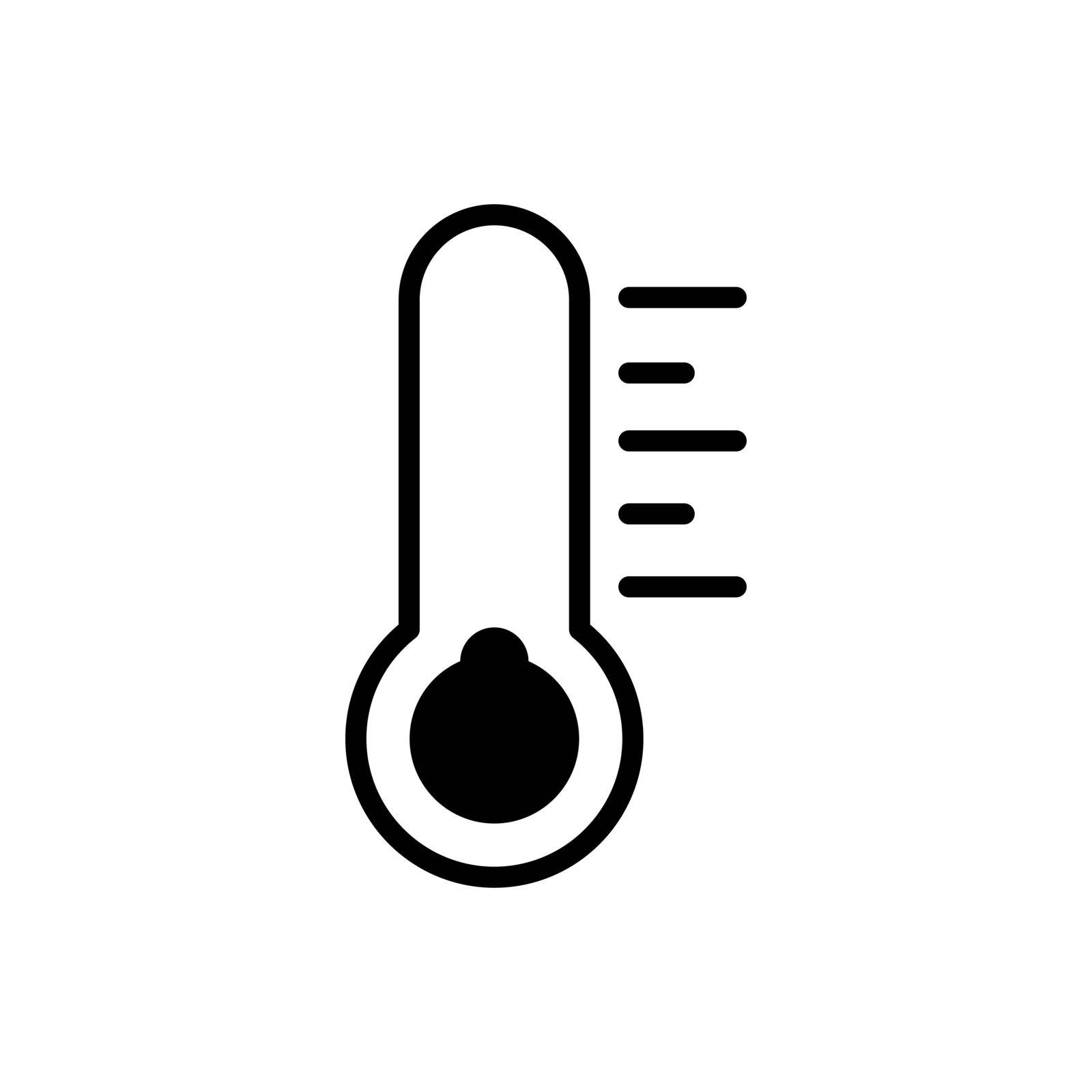 Thermometer cold vector glyph icon. Meteorology sign. Graph symbol for travel, tourism and weather web site and apps design, logo, app, UI